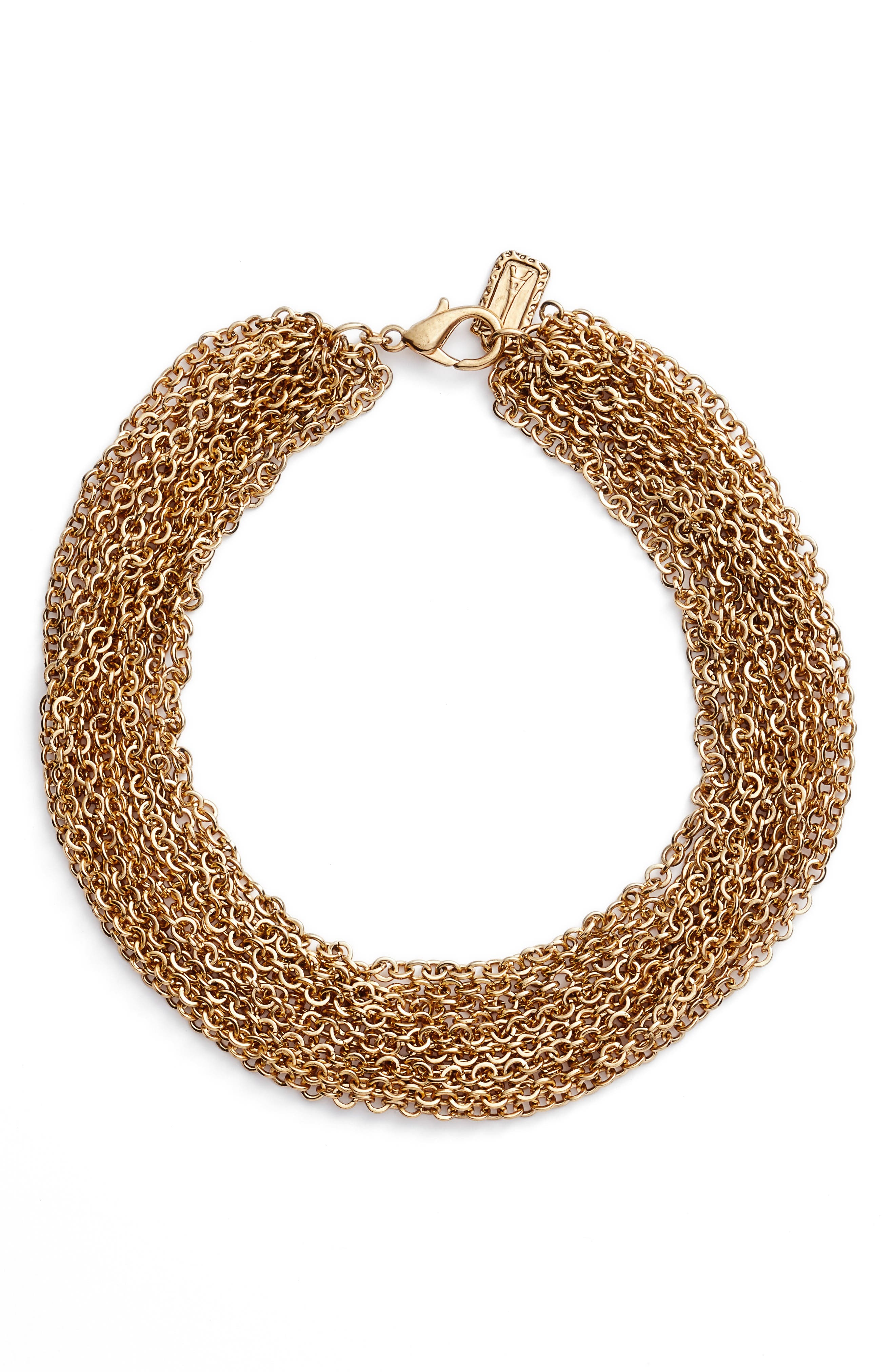 Adeline Collar Necklace,                             Main thumbnail 1, color,                             Gold