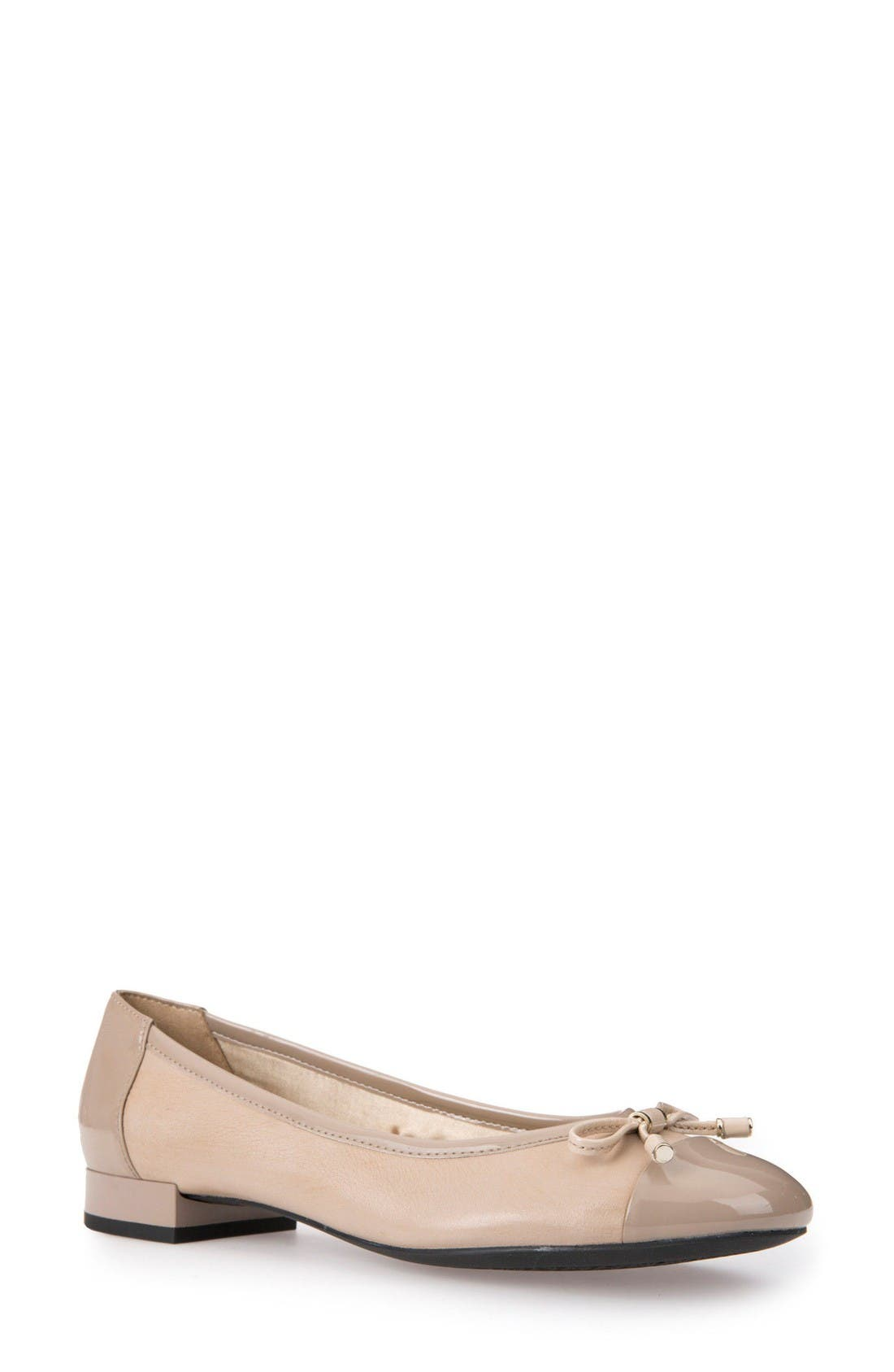Wistrey Flat,                         Main,                         color, Taupe Leather
