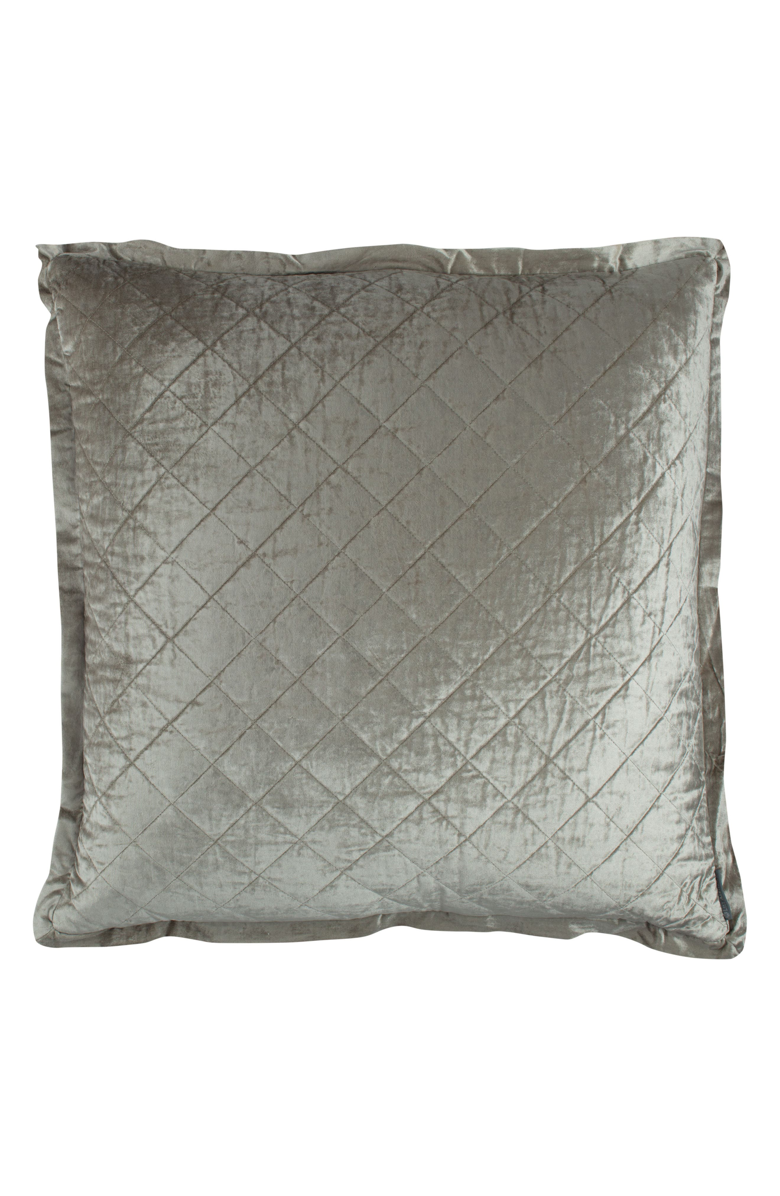 Chloe Quilted Euro Sham,                         Main,                         color, Grey