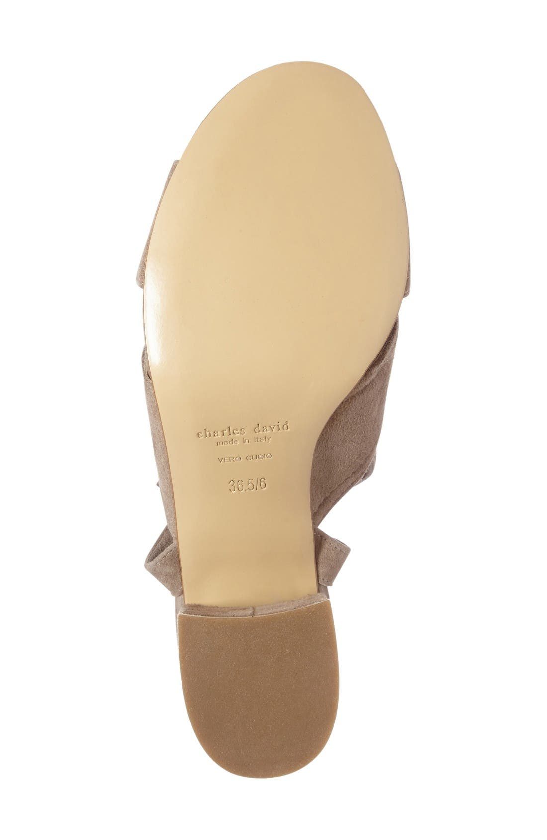 Blossom Wraparound Sandal,                             Alternate thumbnail 3, color,                             Truffle Suede