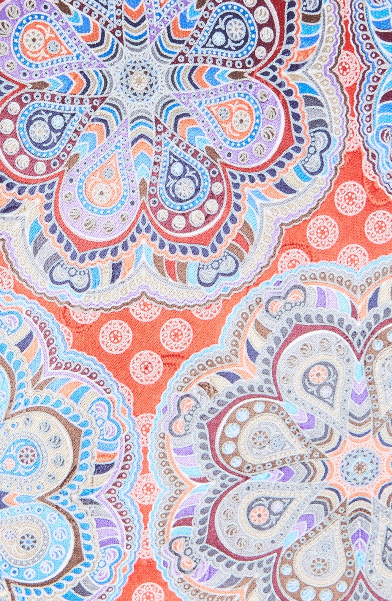 Alternate Image 2  - Ermenegildo Zegna Medallion Woven Silk Tie