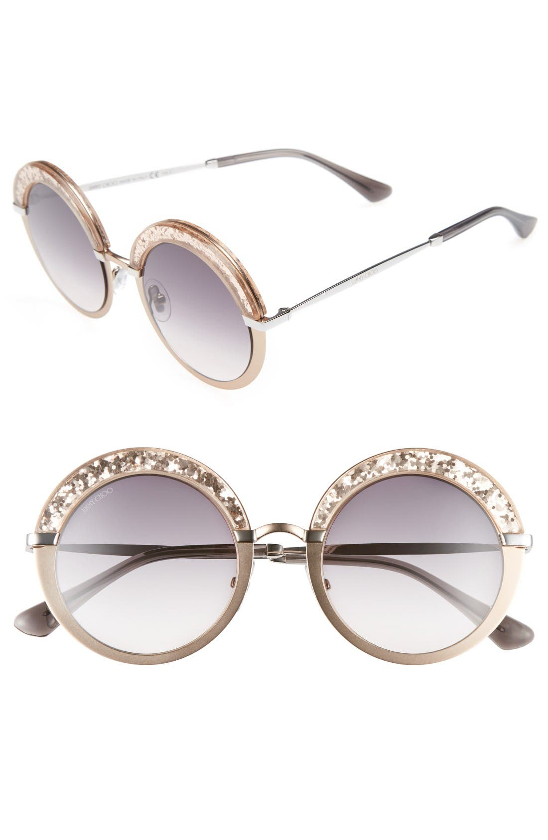 Jimmy Choo Gotha/S 50mm Round Sunglasses
