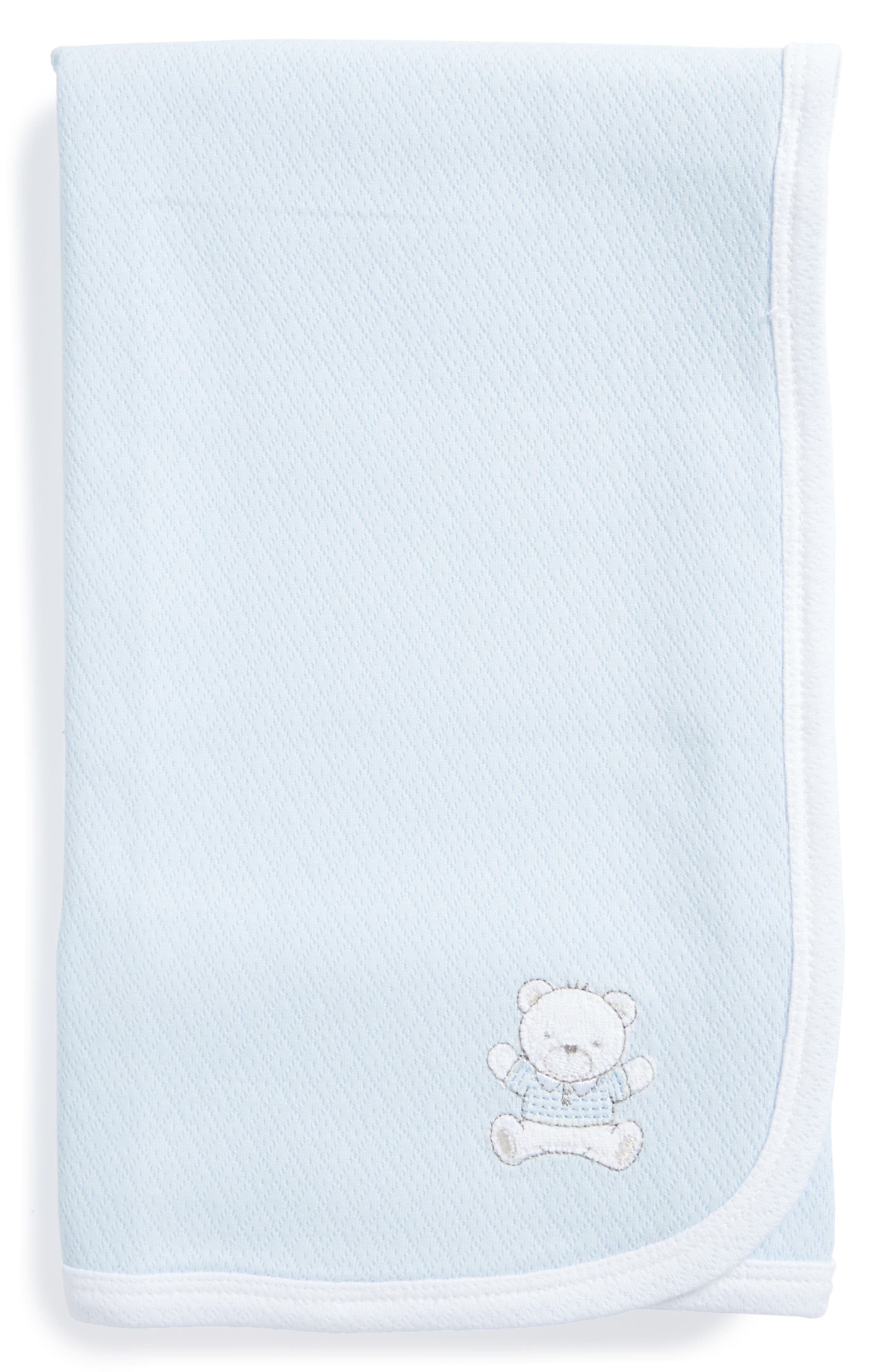 Main Image - Little Me Bear Receiving Blanket (Nordstrom Exclusive)