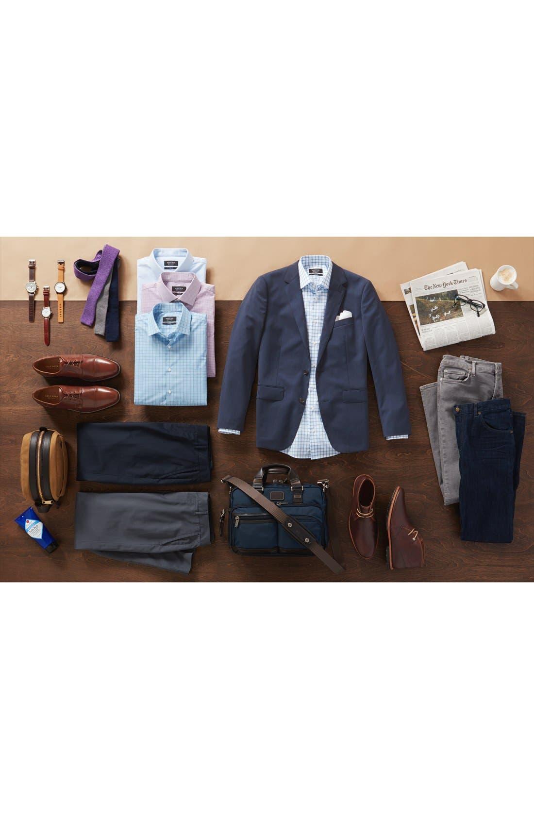 Alternate Image 4  - Nordstrom Men's Shop Solid Cotton & Silk Pocket Square
