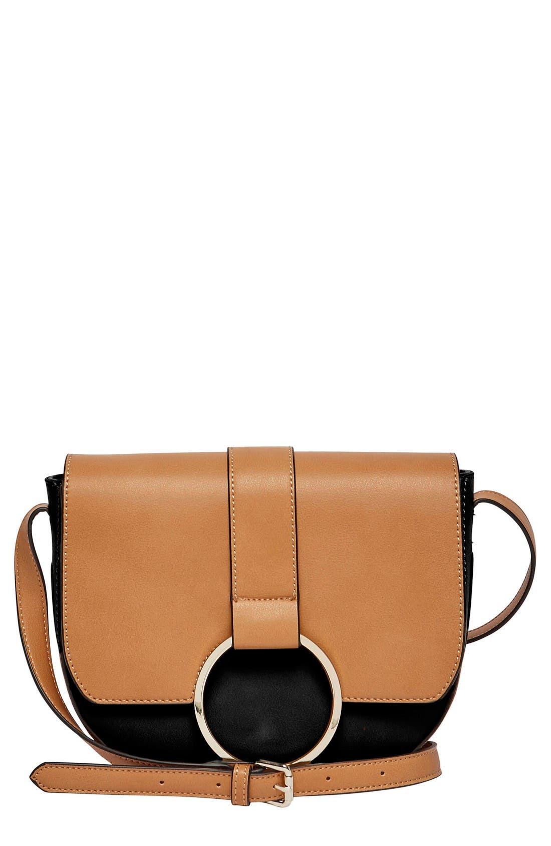 Alternate Image 1 Selected - Urban Originals Reckless Destiny Vegan Leather Saddle Bag