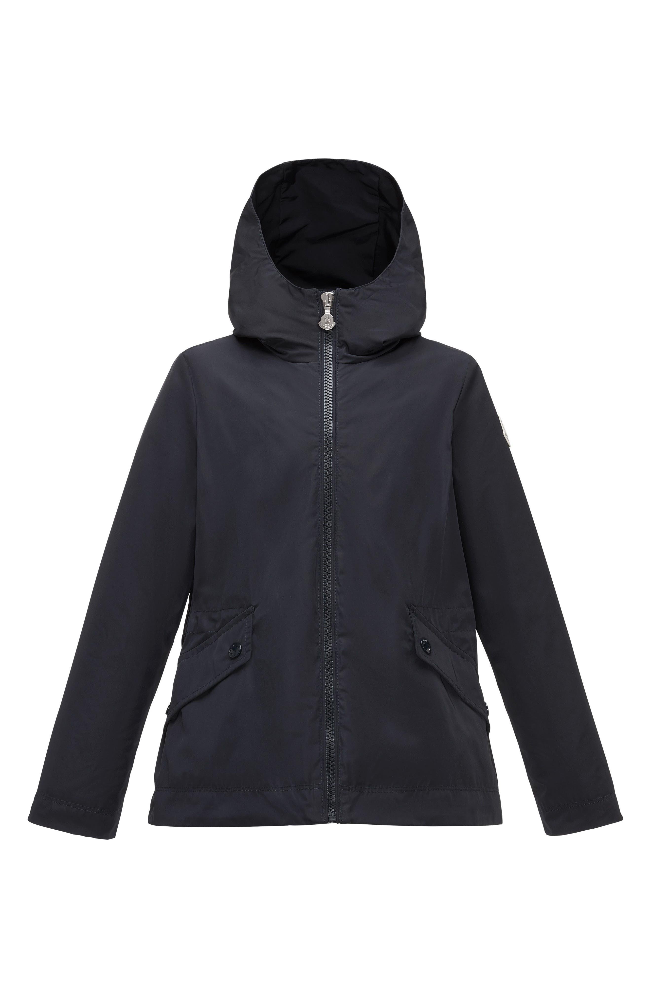 Main Image - Moncler Dericia Hooded Windbreaker Jacket (Little Girls & Big Girls)