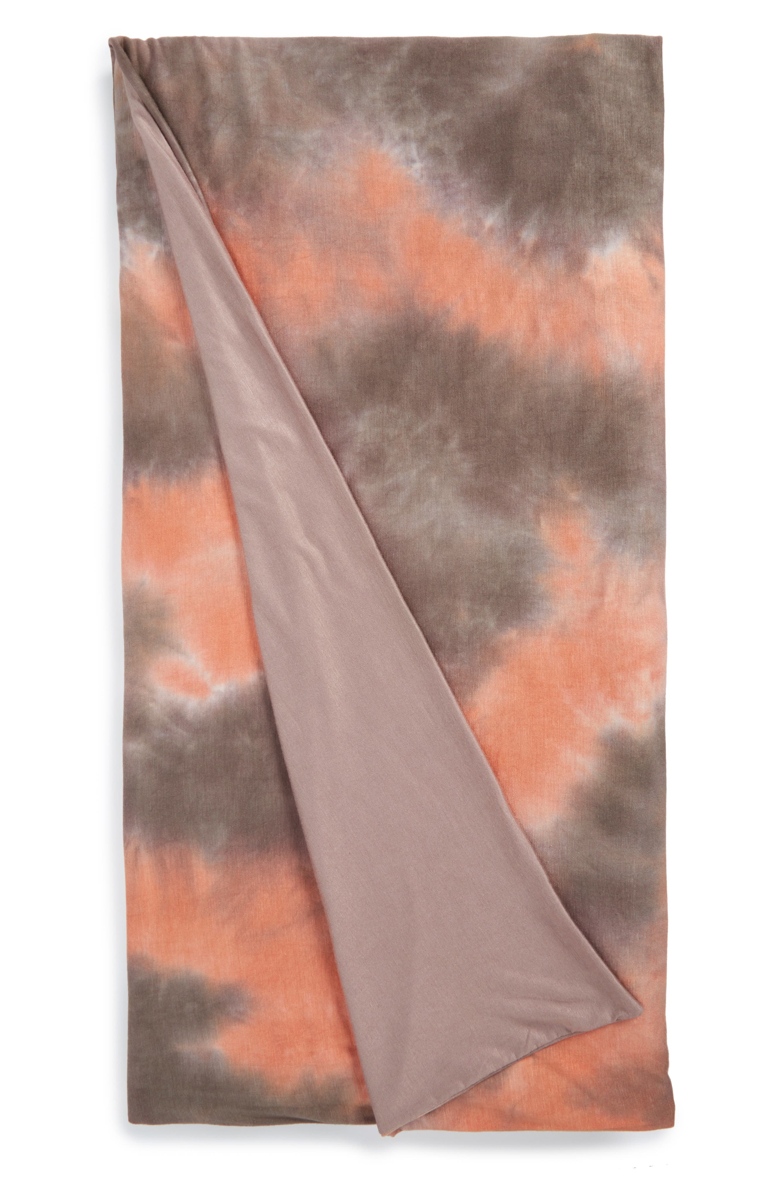 September Marbled Jersey Throw,                             Main thumbnail 1, color,                             Coral/ Multi