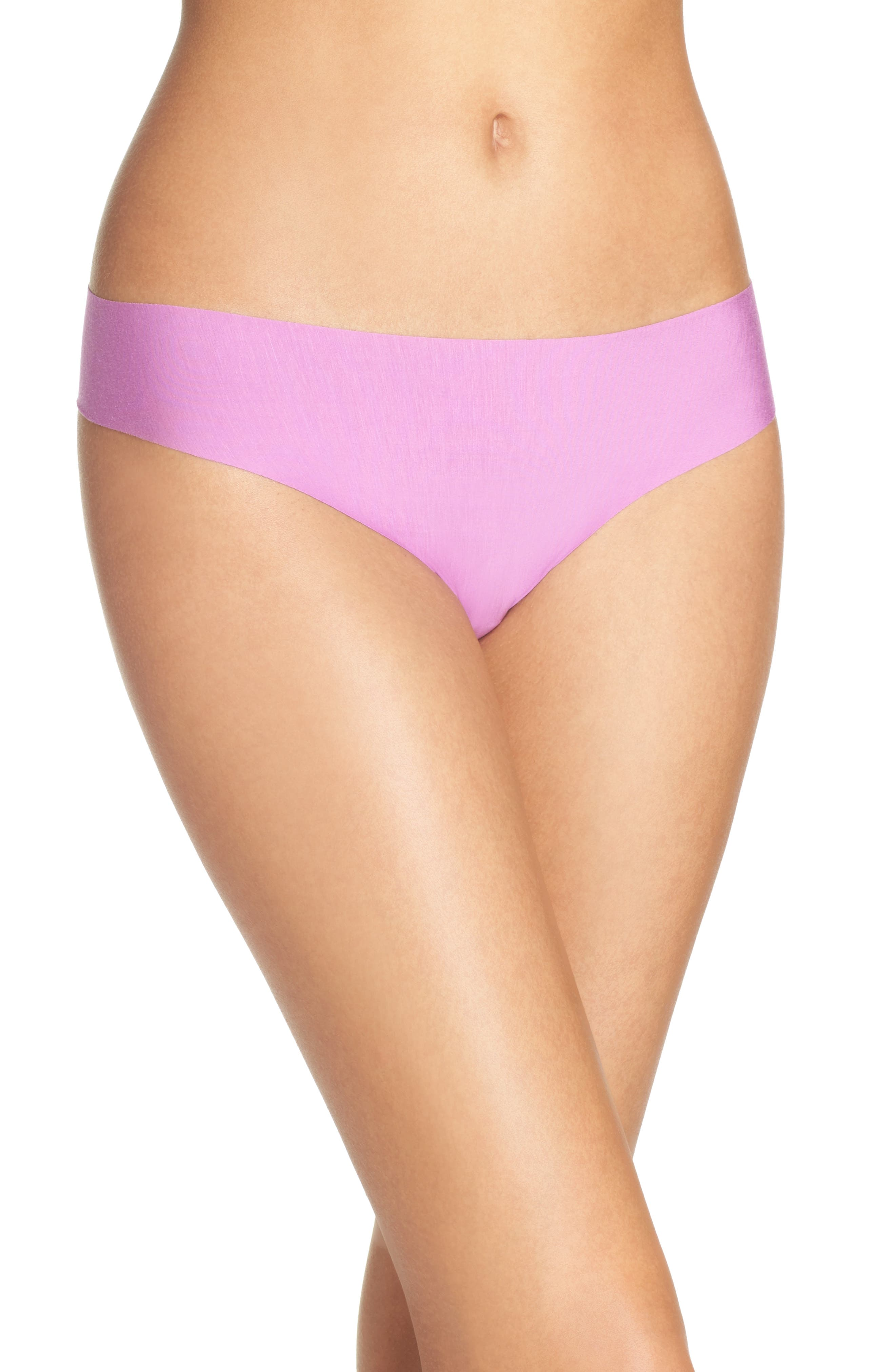 'Butter' Stretch Modal Thong,                         Main,                         color, Hyacinth