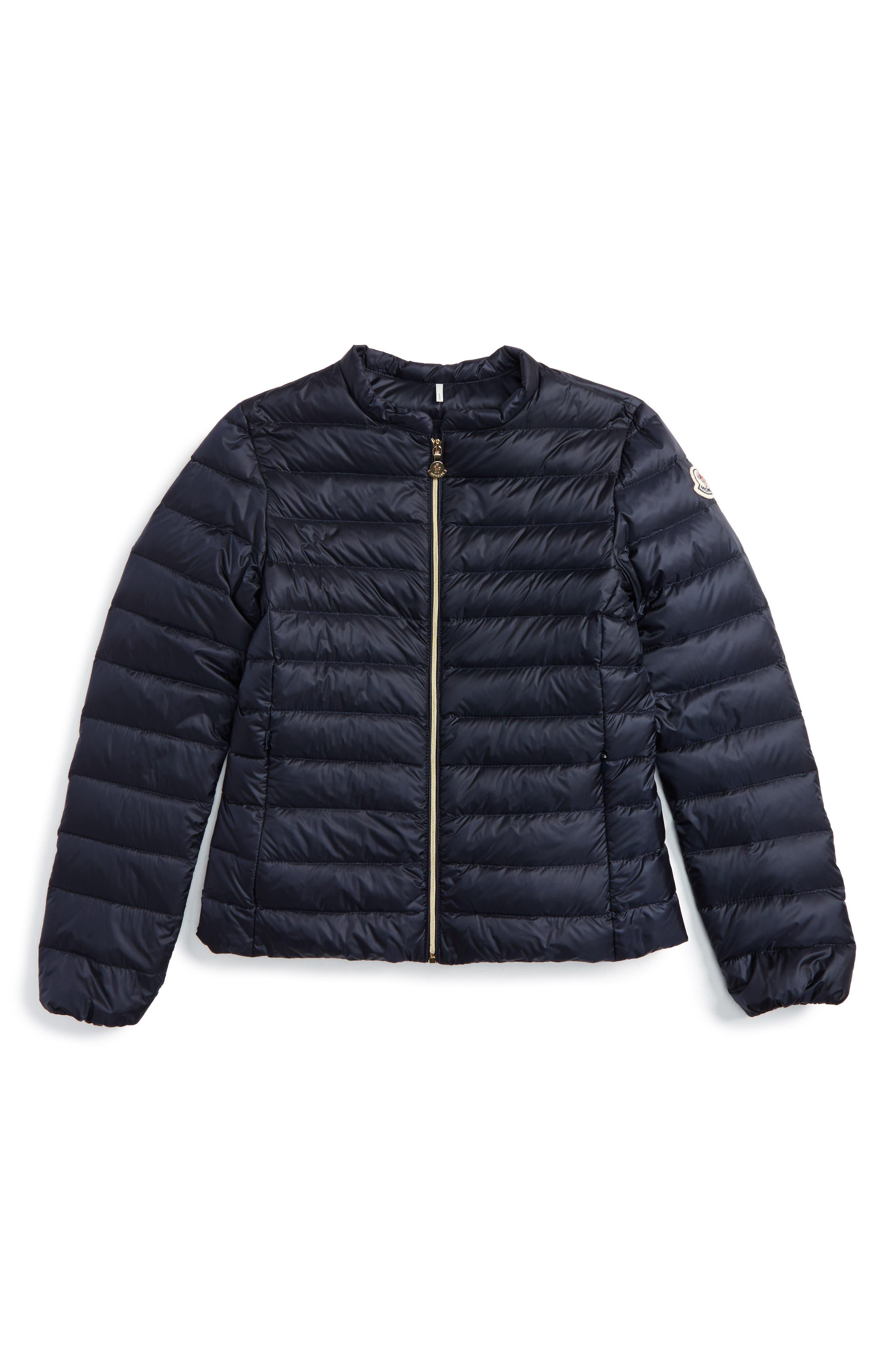 Ambrine Water Resistant Down Jacket,                             Main thumbnail 1, color,                             Navy