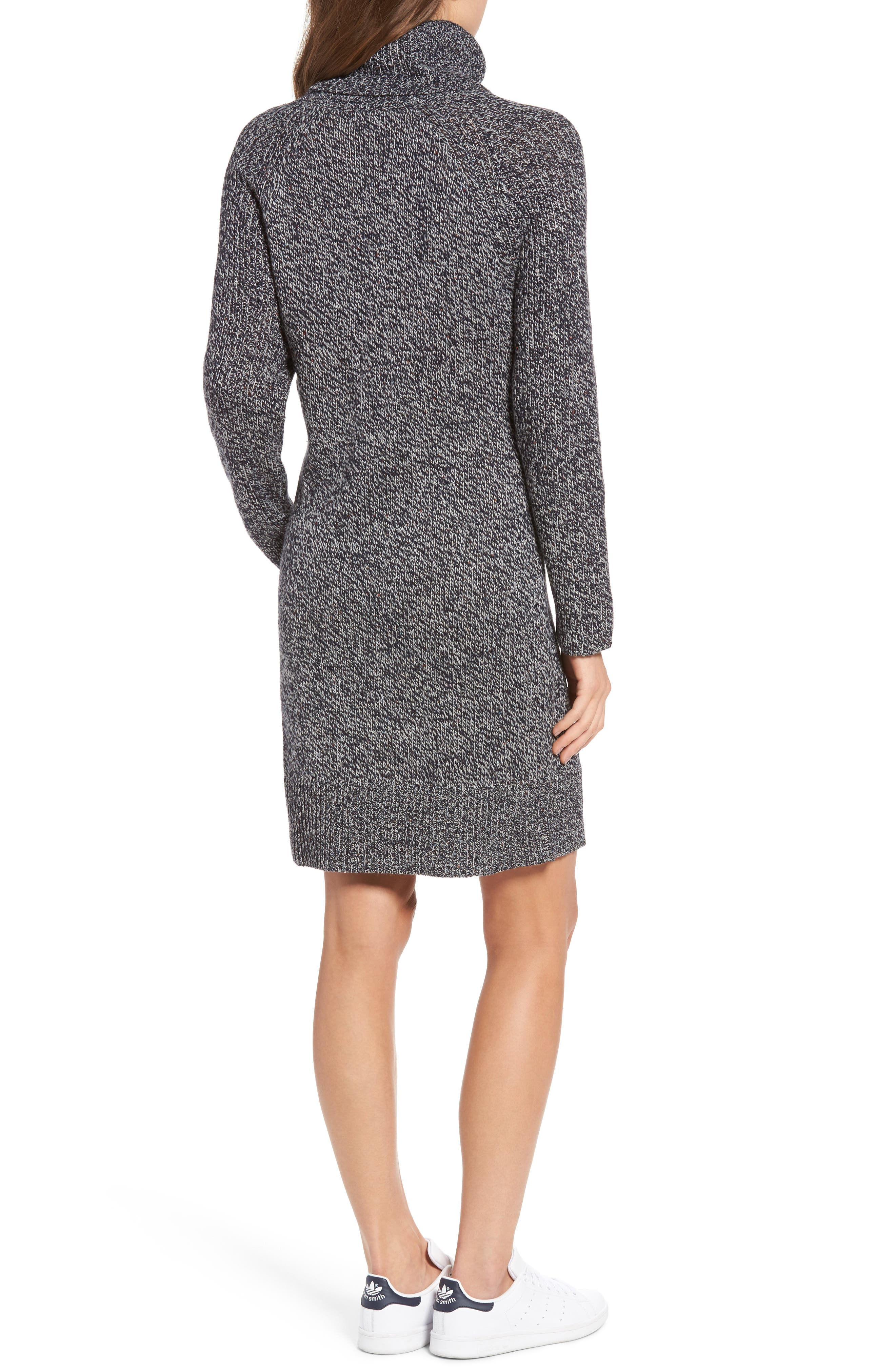 Alternate Image 2  - Treasure&Bond Turtleneck Sweater Dress