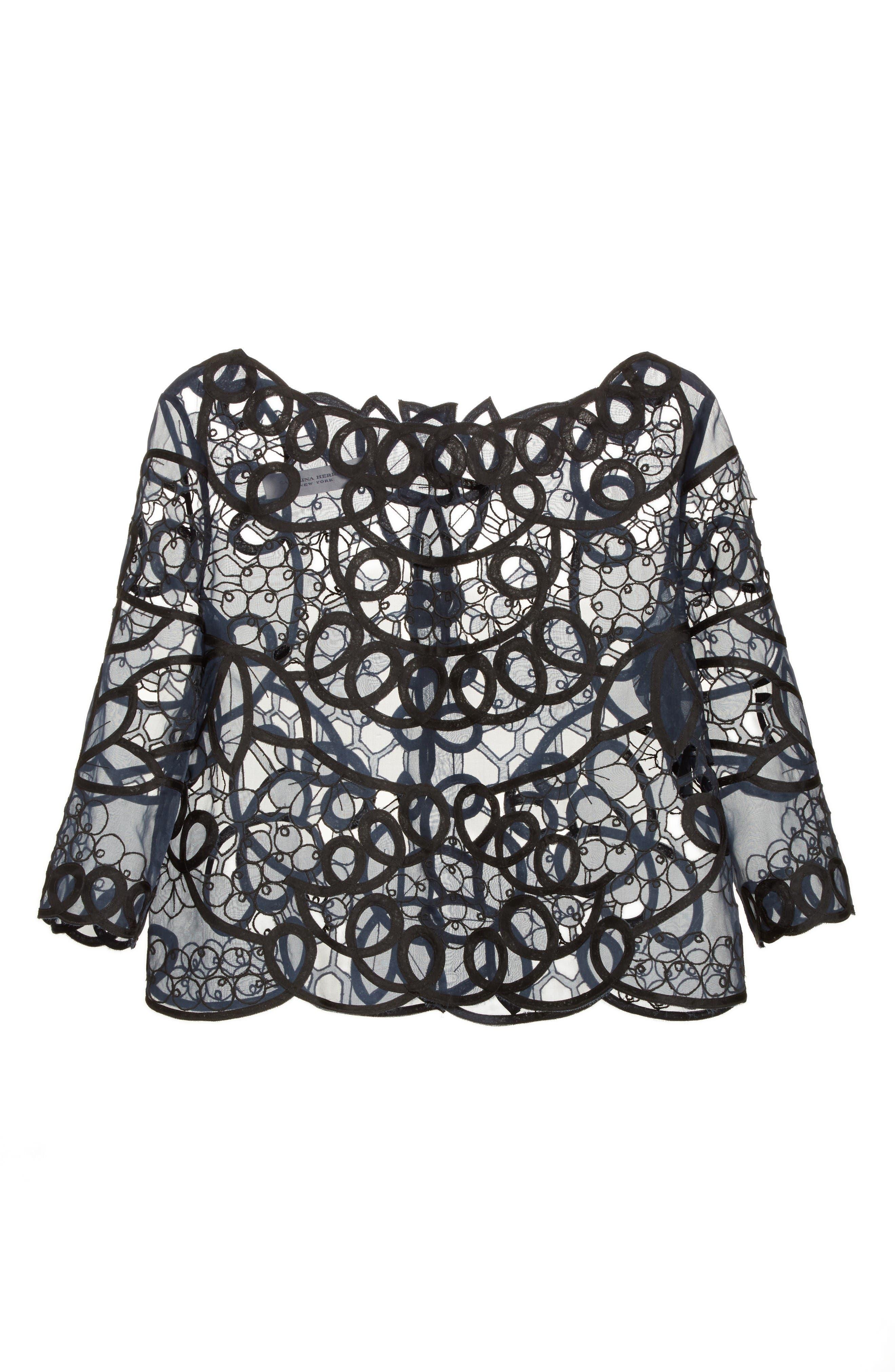 Alternate Image 5  - Carolina Herrera Reversible Lace Bolero
