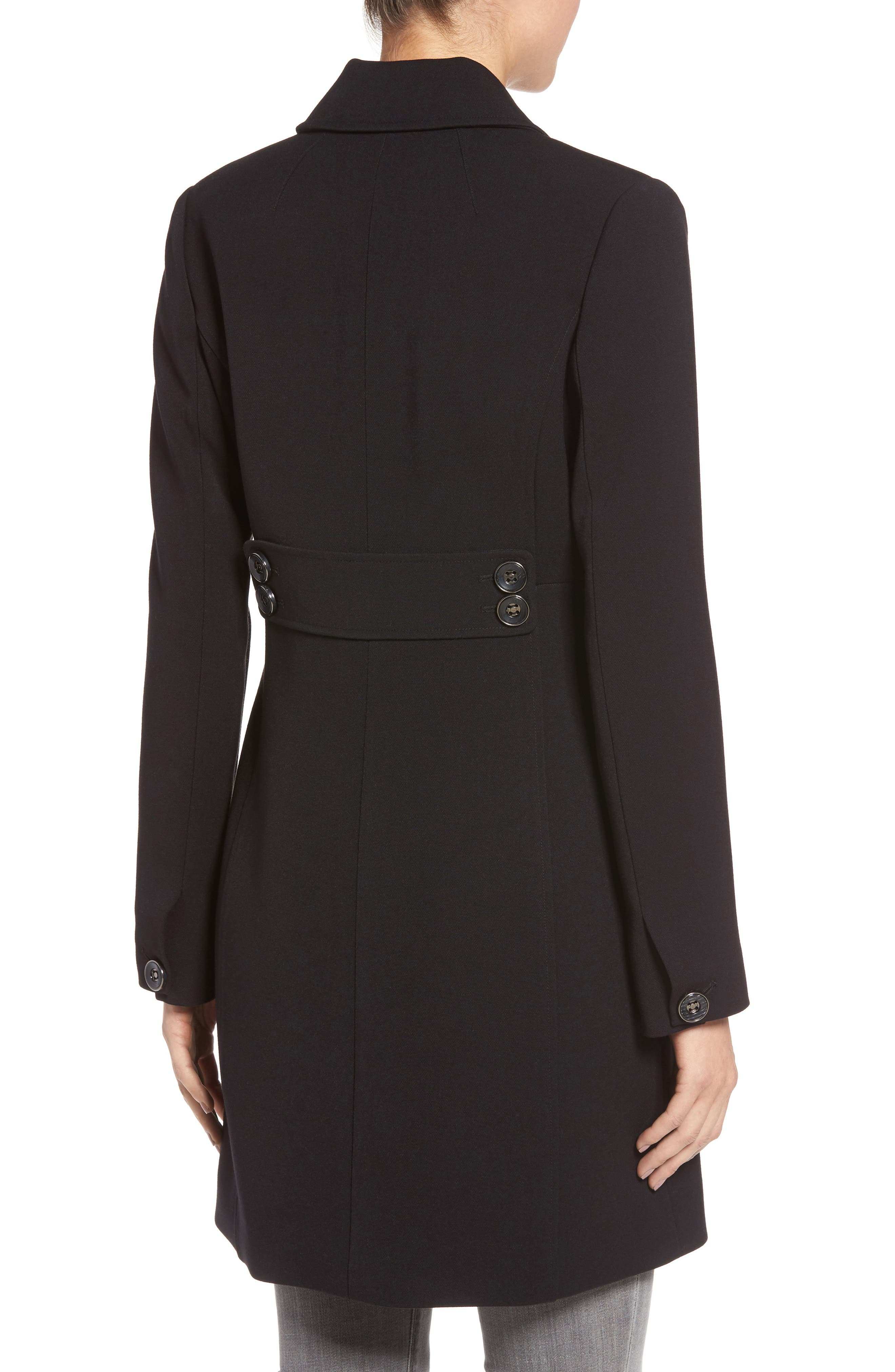Alternate Image 2  - Kenneth Cole A-Line Ponte Coat (Regular & Petite)