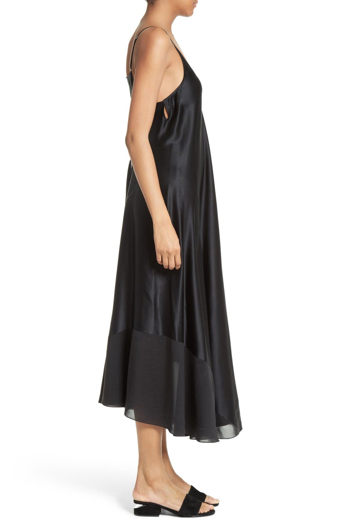 Alternate Image 3  - T by Alexander Wang Silk Charmeuse Midi Dress