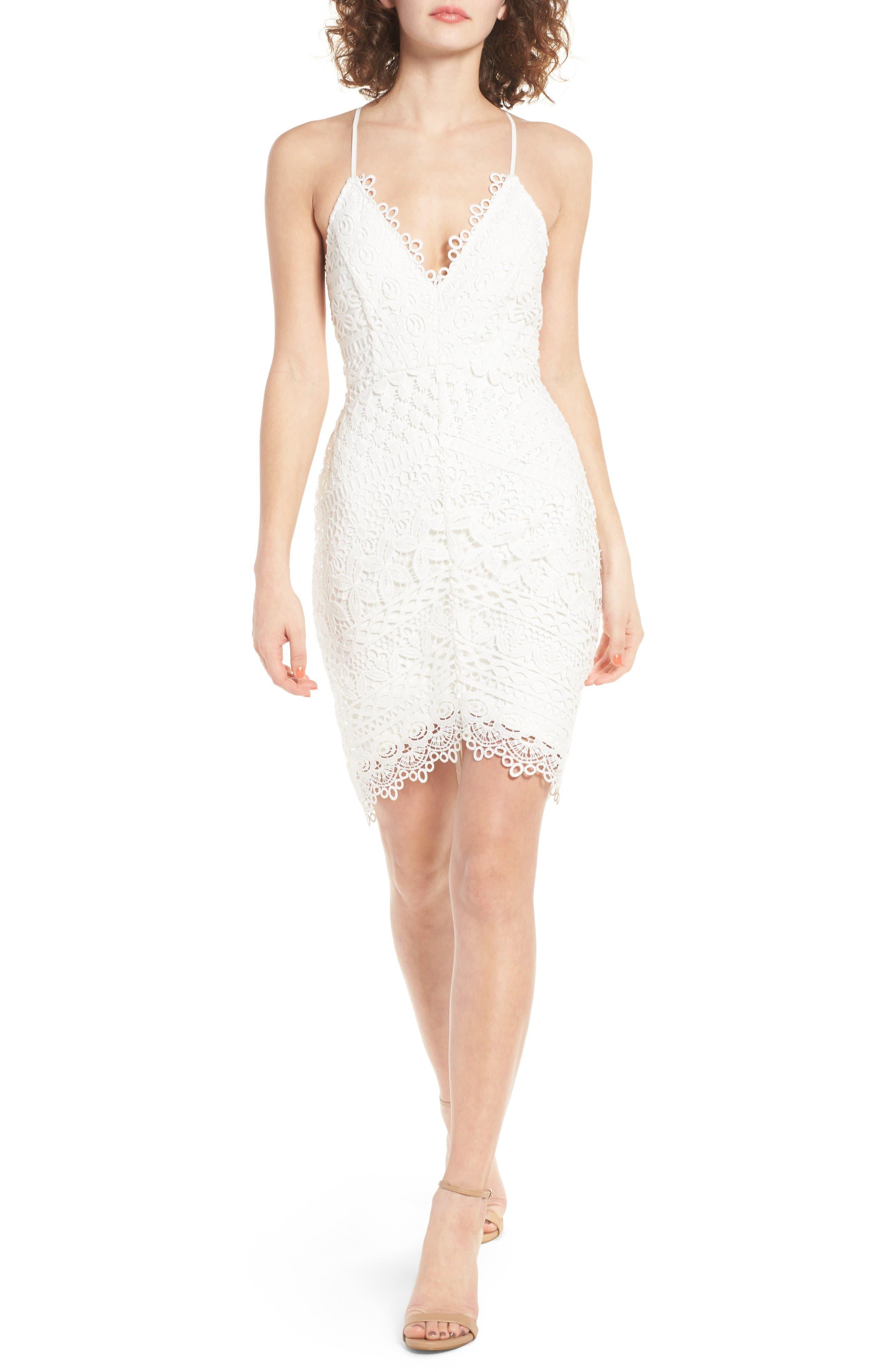Main Image - ASTR the Label Lace Body-Con Dress