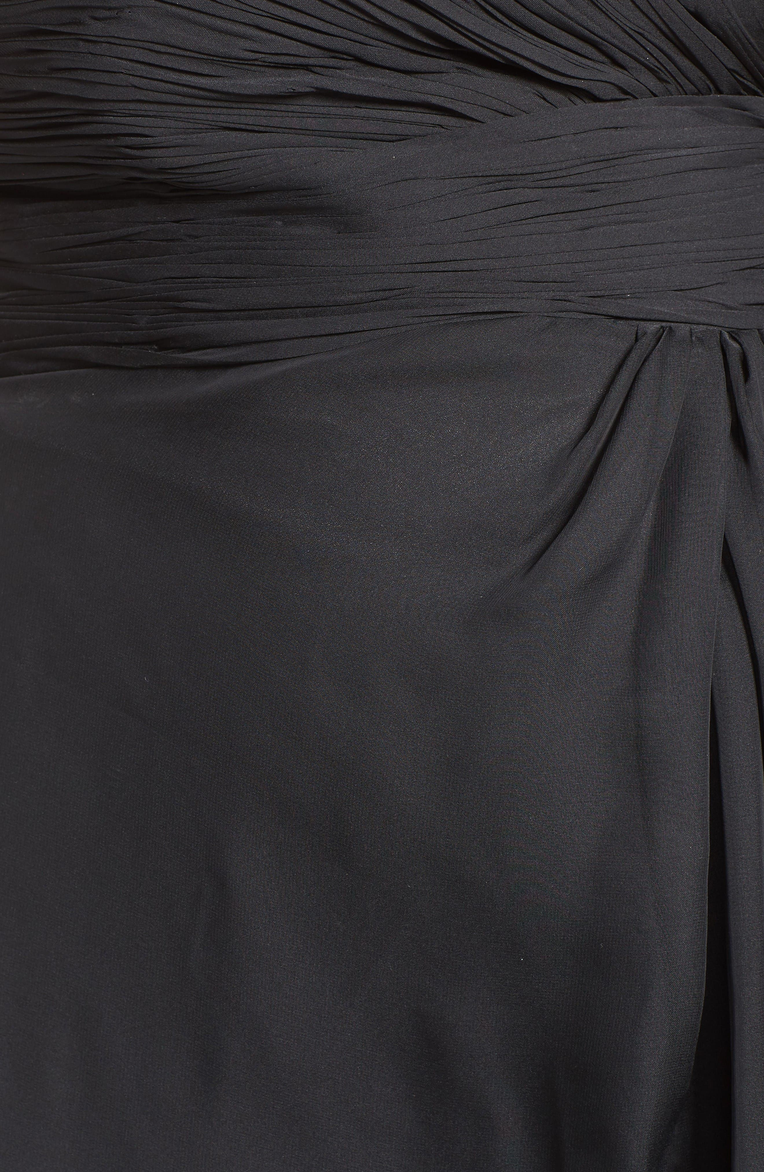 Alternate Image 5  - Mac Duggal Embellished Goddess Gown (Plus Size)