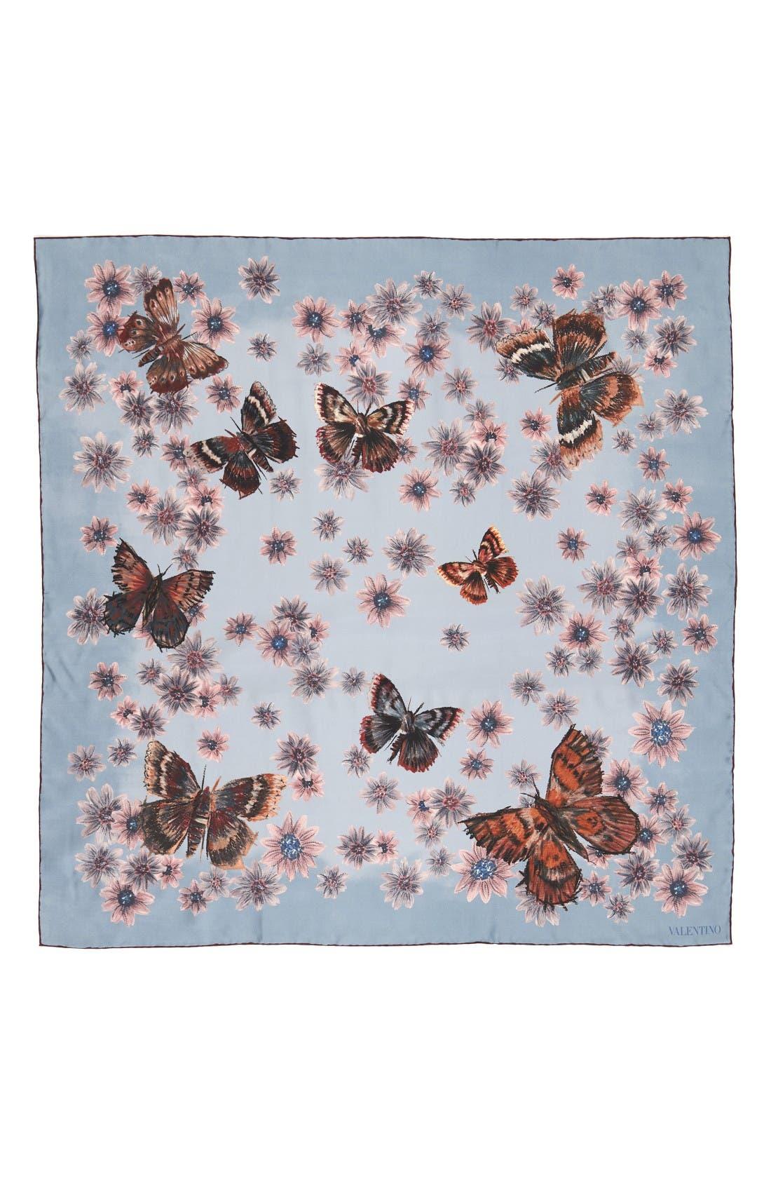 Alternate Image 1 Selected - Valentino Mariposa Garden Silk Scarf