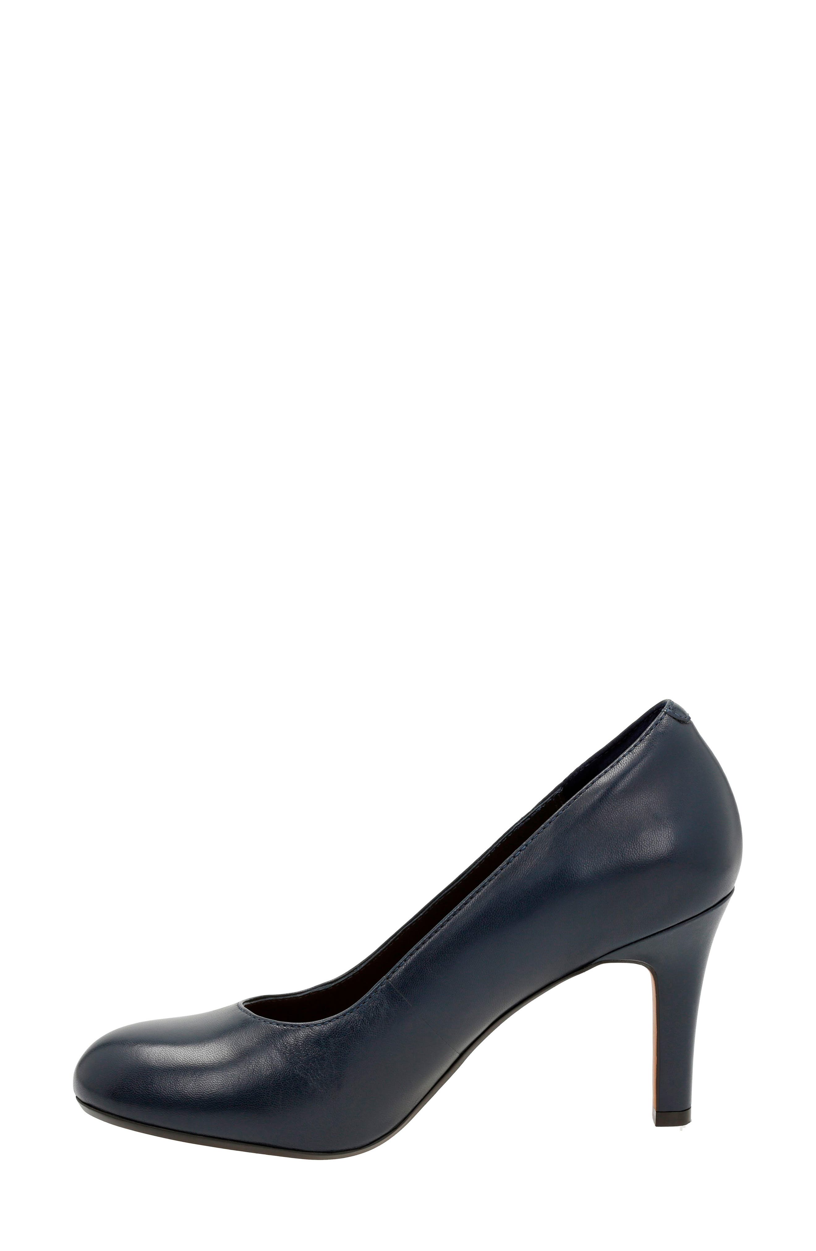 'Heavenly Star' Pump,                             Alternate thumbnail 2, color,                             Navy Leather