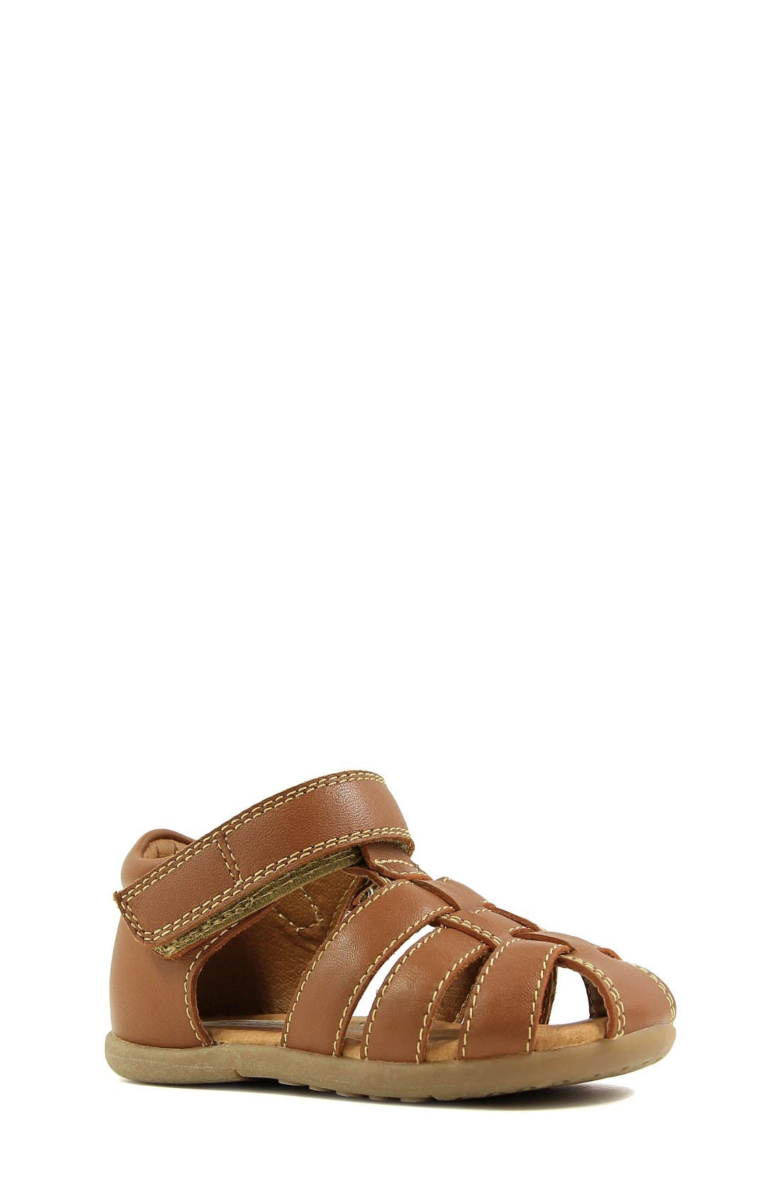 Ryker Sandal,                             Main thumbnail 1, color,                             Saddle Tan Leather