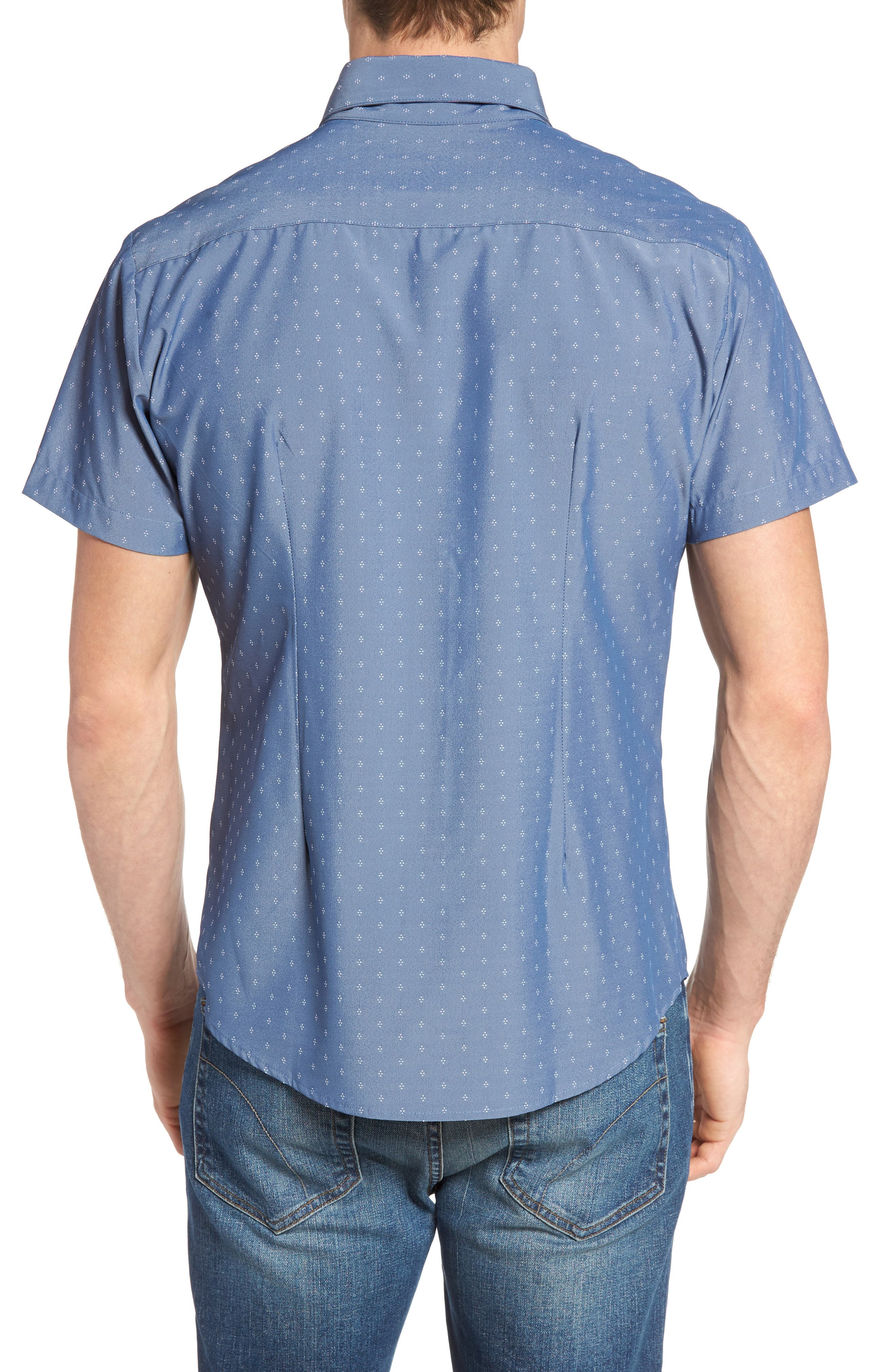 Alternate Image 2  - Mizzen+Main Kingston Poseidon Slim Fit Print Performance Sport Shirt