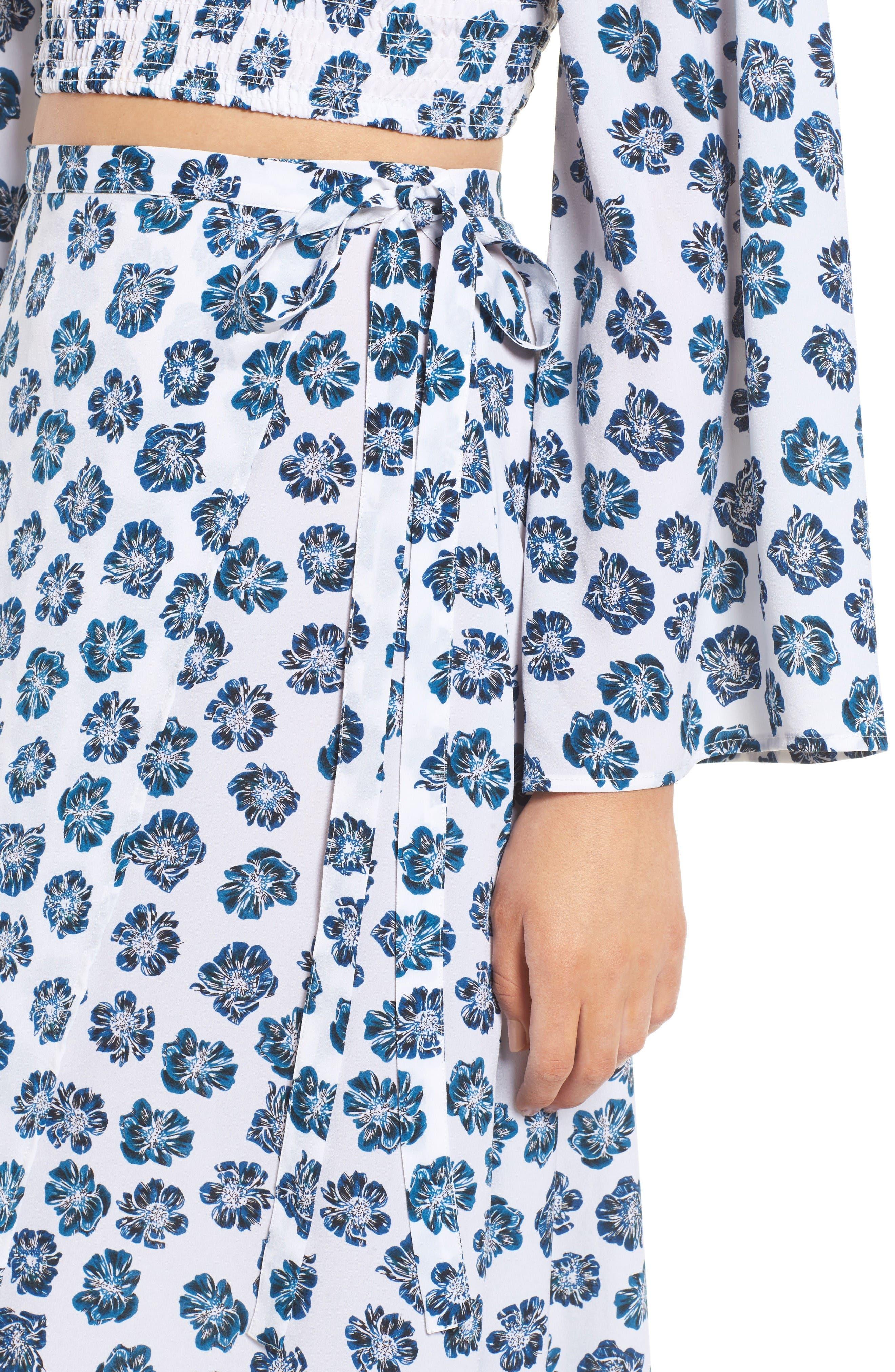 Alternate Image 6  - The Fifth Label Romancing Print Wrap Skirt