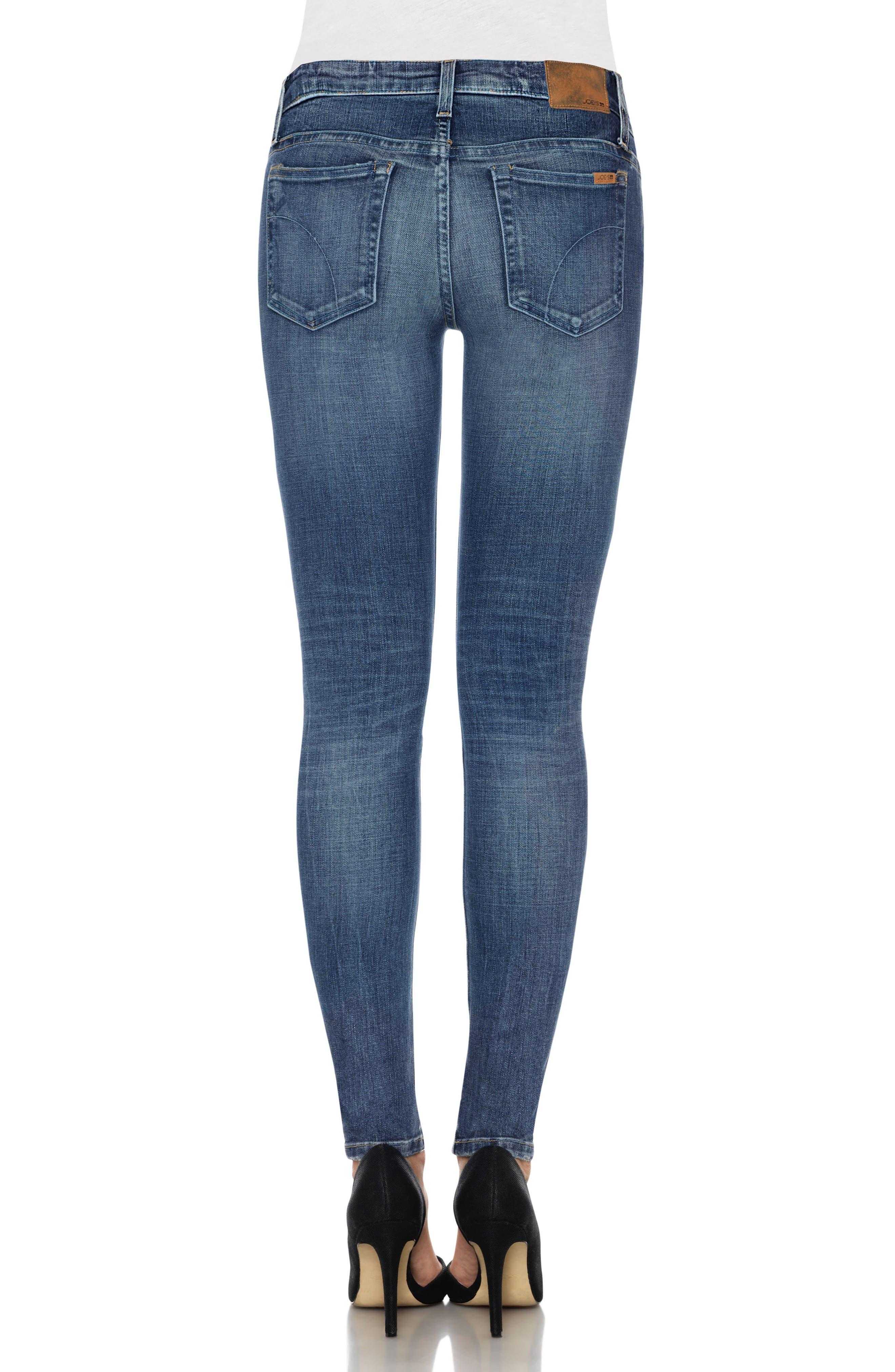 Icon Skinny Jeans,                             Alternate thumbnail 2, color,                             Neelam