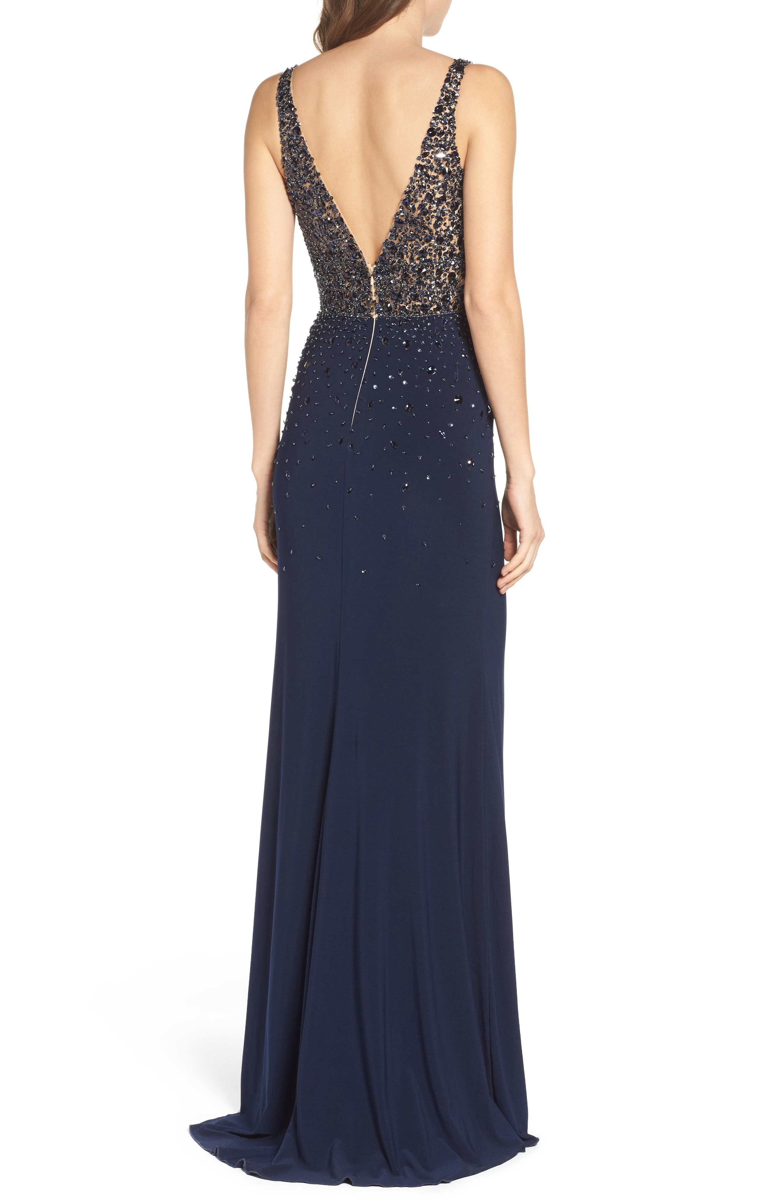 Alternate Image 2  - Sean Collection Embellished Sleeveless Gown