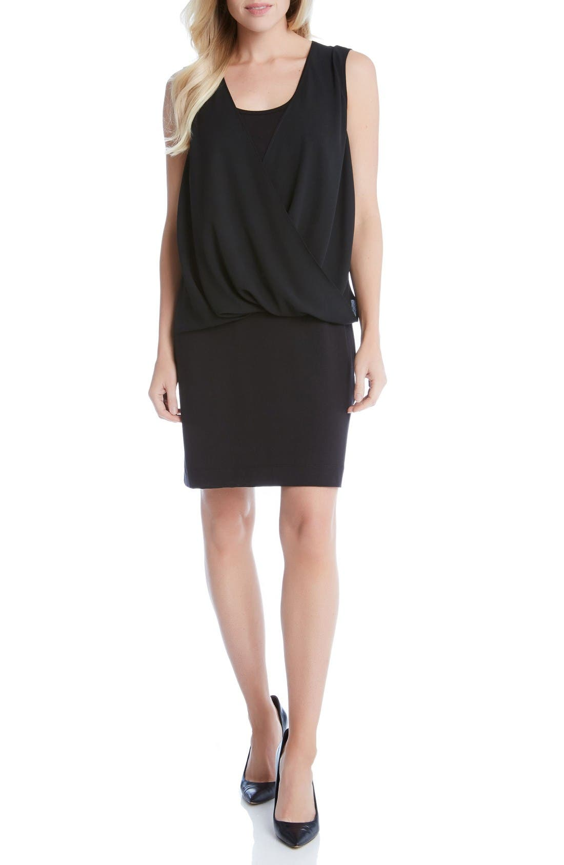 KAREN KANE Drape Front Dress