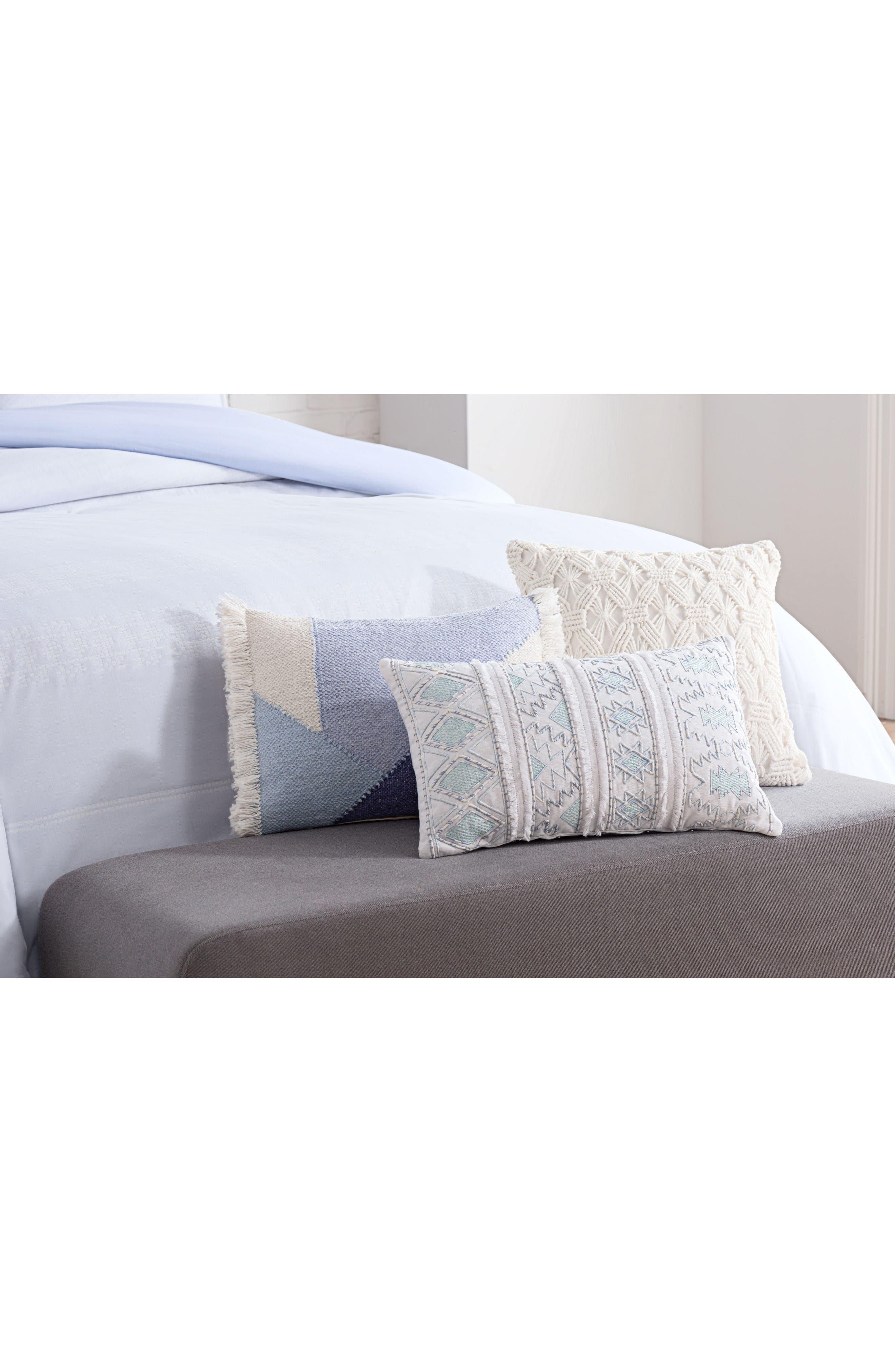 cupcakes & cashmere Mosaic Tile Accent Pillow,                             Alternate thumbnail 2, color,                             Blue