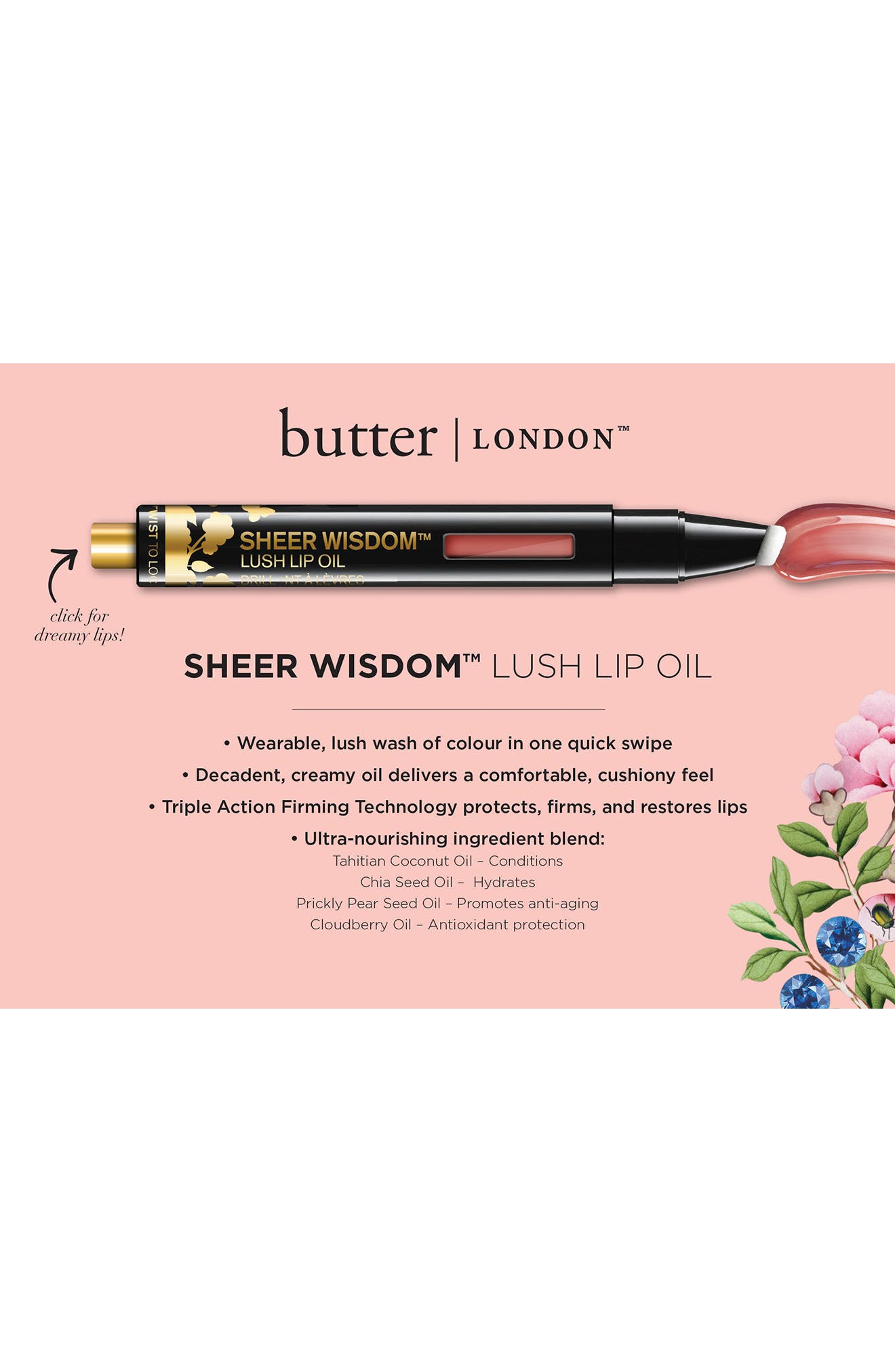 Sheer Wisdom Lip Oil,                             Alternate thumbnail 3, color,