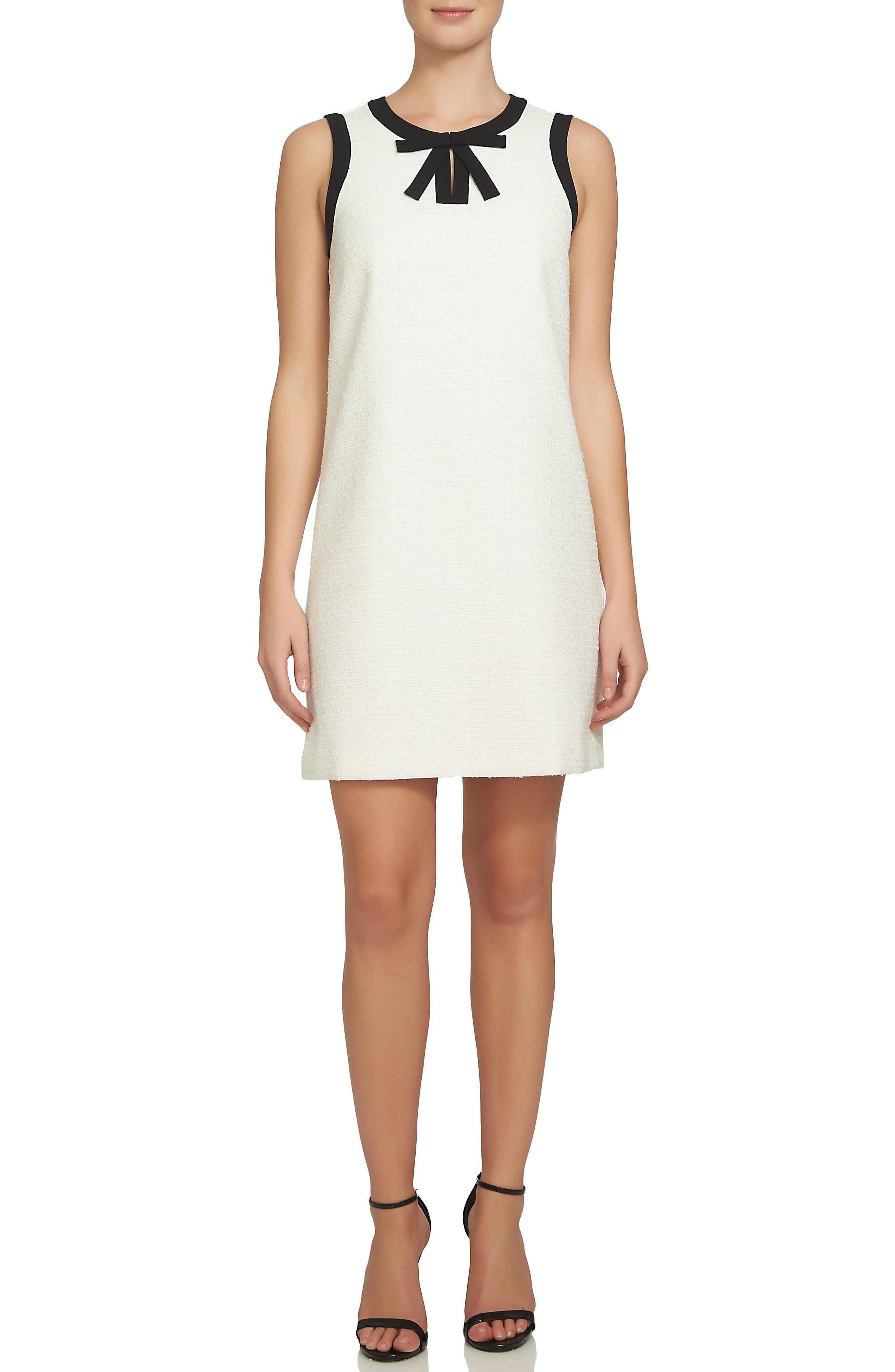 Camilla Shift Dress,                             Alternate thumbnail 3, color,                             New Ivory