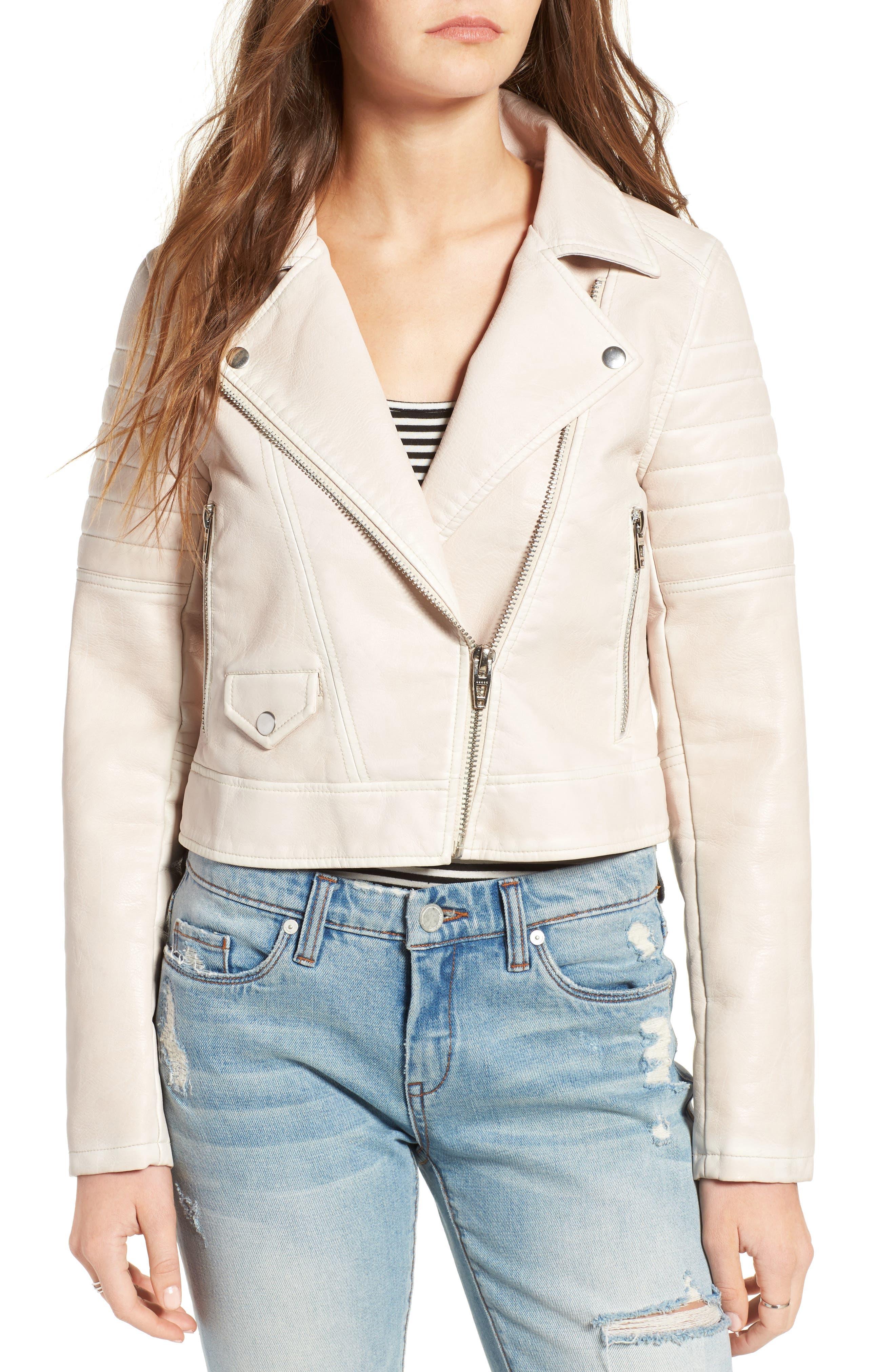 Alternate Image 4  - BLANKNYC Faux Leather Moto Jacket