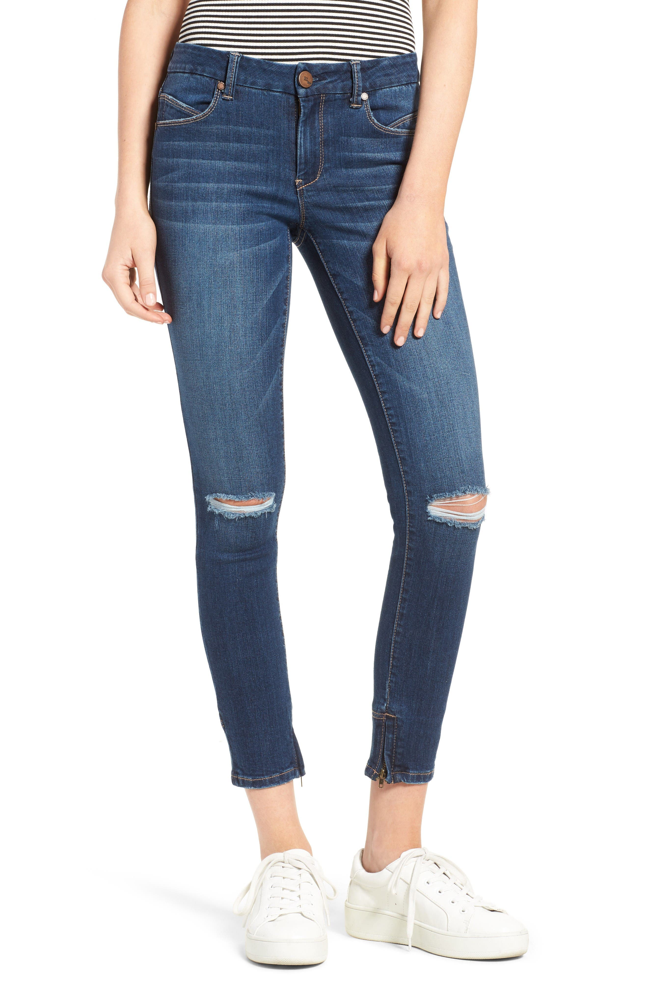 Alternate Image 1 Selected - 1822 Denim Ankle Skinny Jeans (Athens)