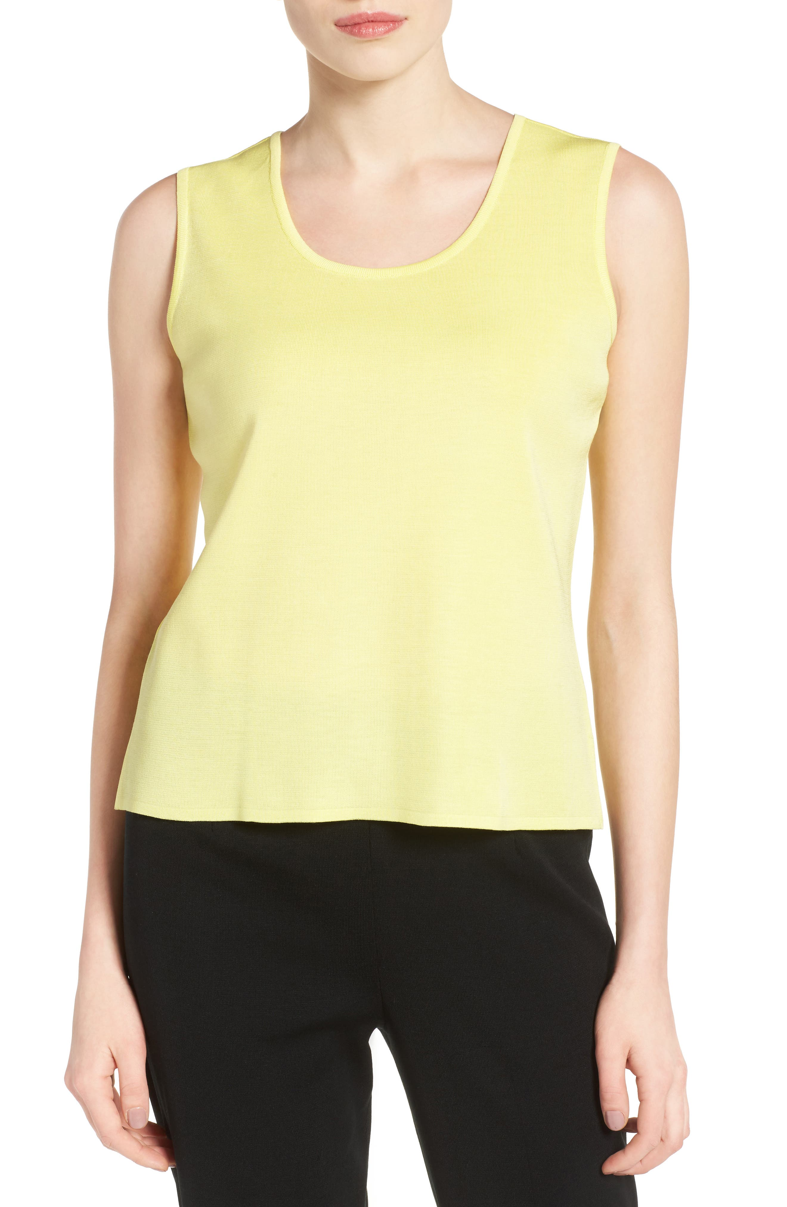 Alternate Image 1 Selected - Ming Wang Scoop Neck Knit Tank