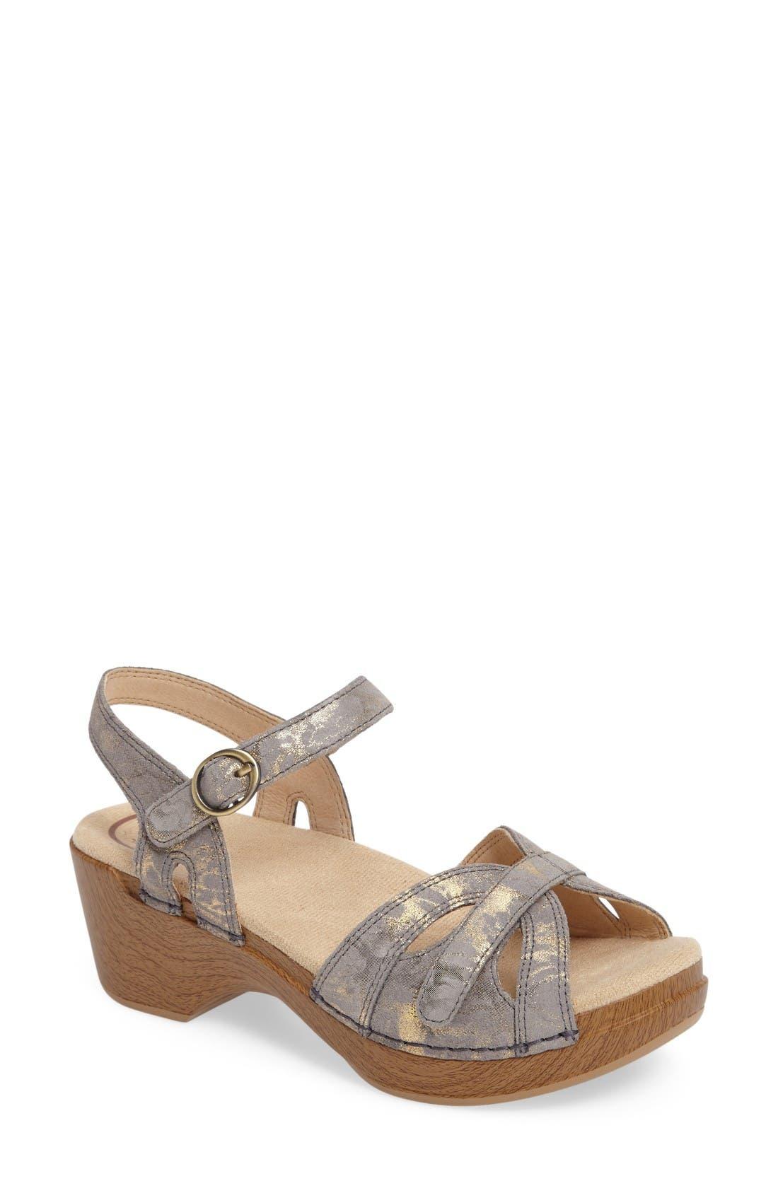 Season Sandal,                         Main,                         color, Stone Leather