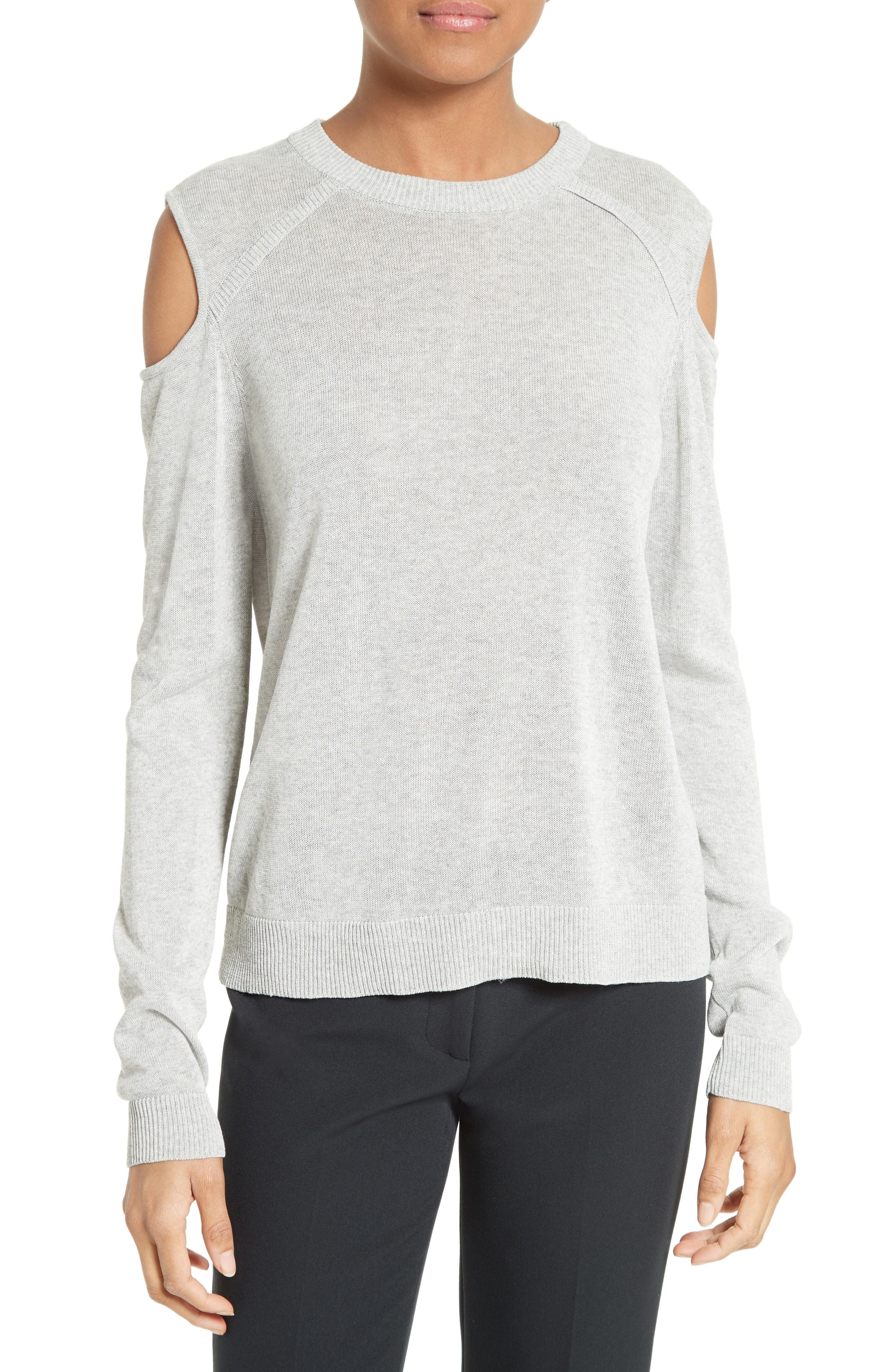 Alternate Image 1 Selected - Milly Cold Shoulder Pullover