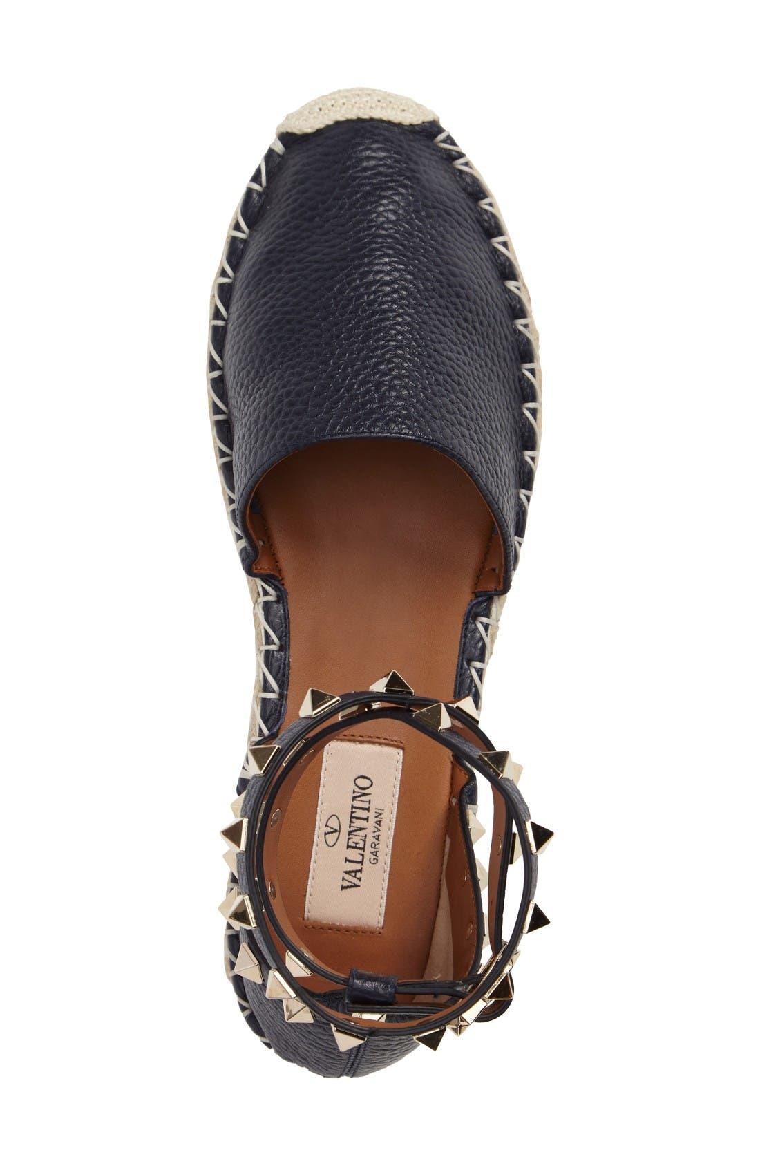 Alternate Image 3  - Valentino Rockstud Espadrille Sandal (Women)