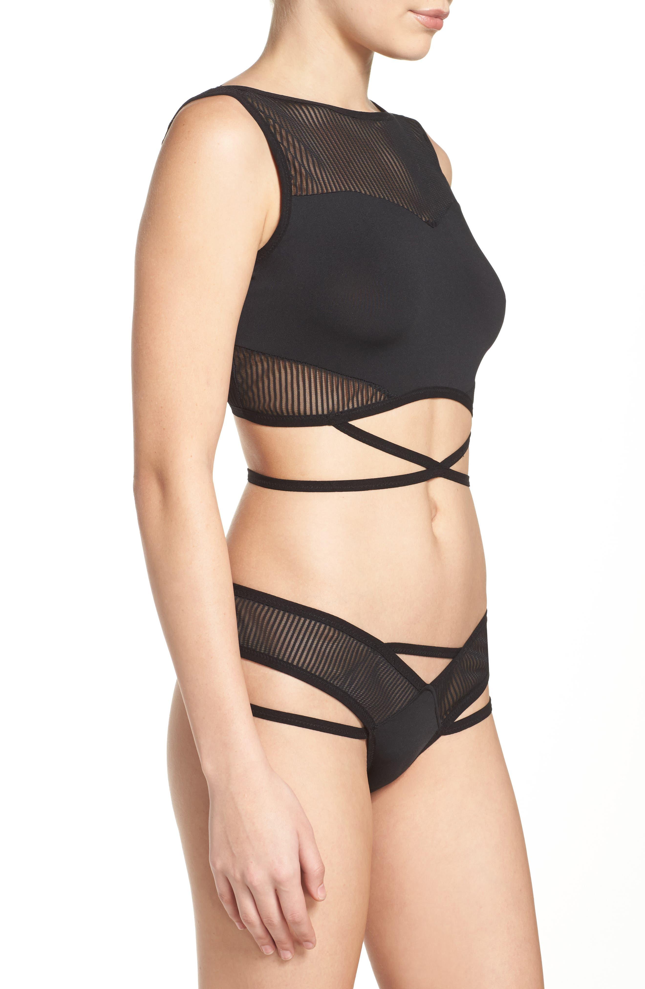 Alternate Image 3  - Hauty Crop Top Bralette & Panties