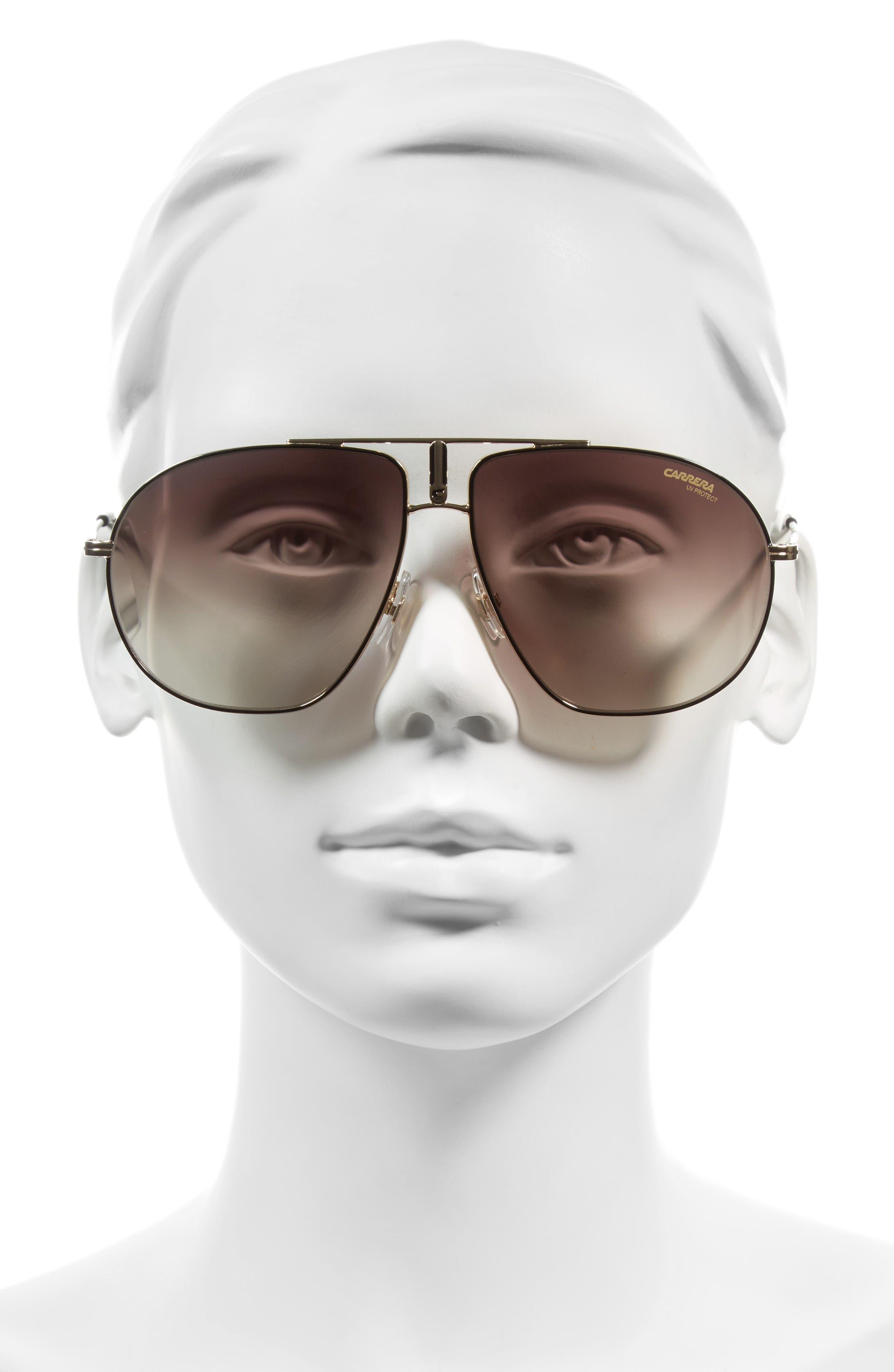 Carrera Bound 62mm Sunglasses,                             Alternate thumbnail 2, color,                             Black Gold