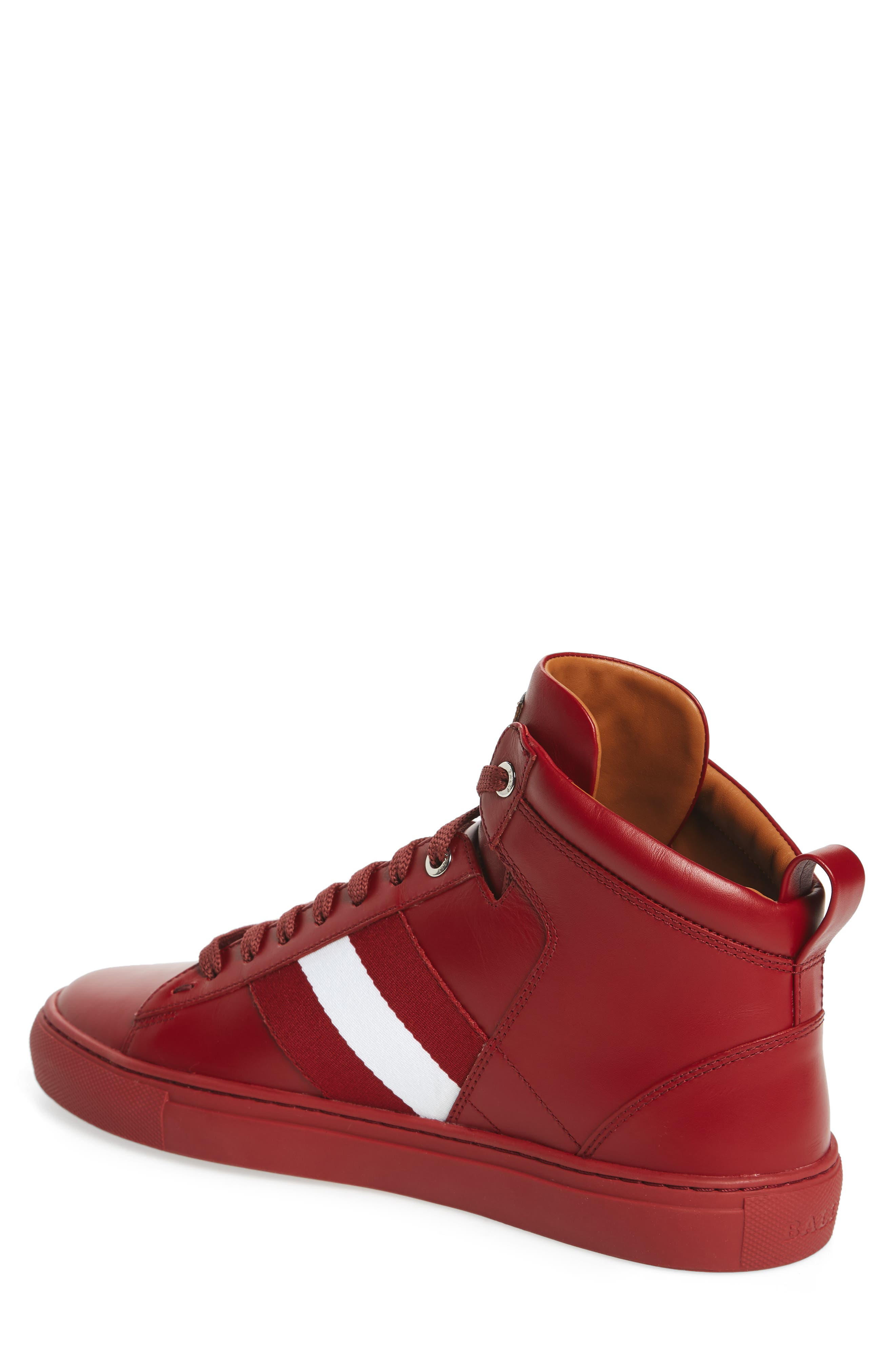 Hedern Sneaker,                             Alternate thumbnail 2, color,                             Red Leather