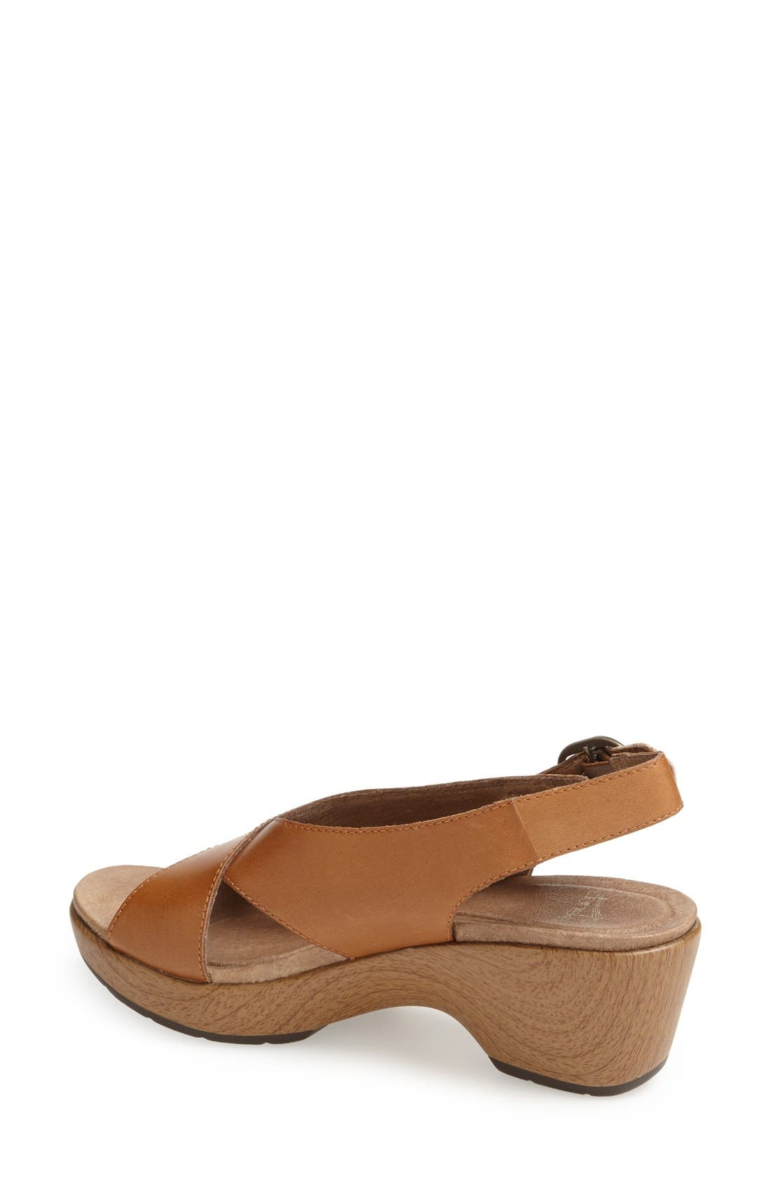 'Jacinda' Sandal,                             Alternate thumbnail 2, color,                             Caramel