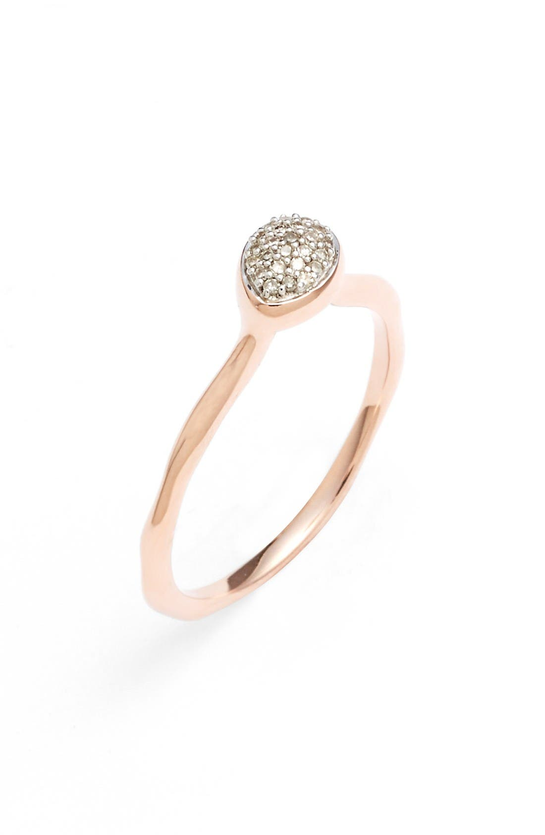 Alternate Image 5  - Monica Vinader Siren Small Pavé Diamond Stacking Ring