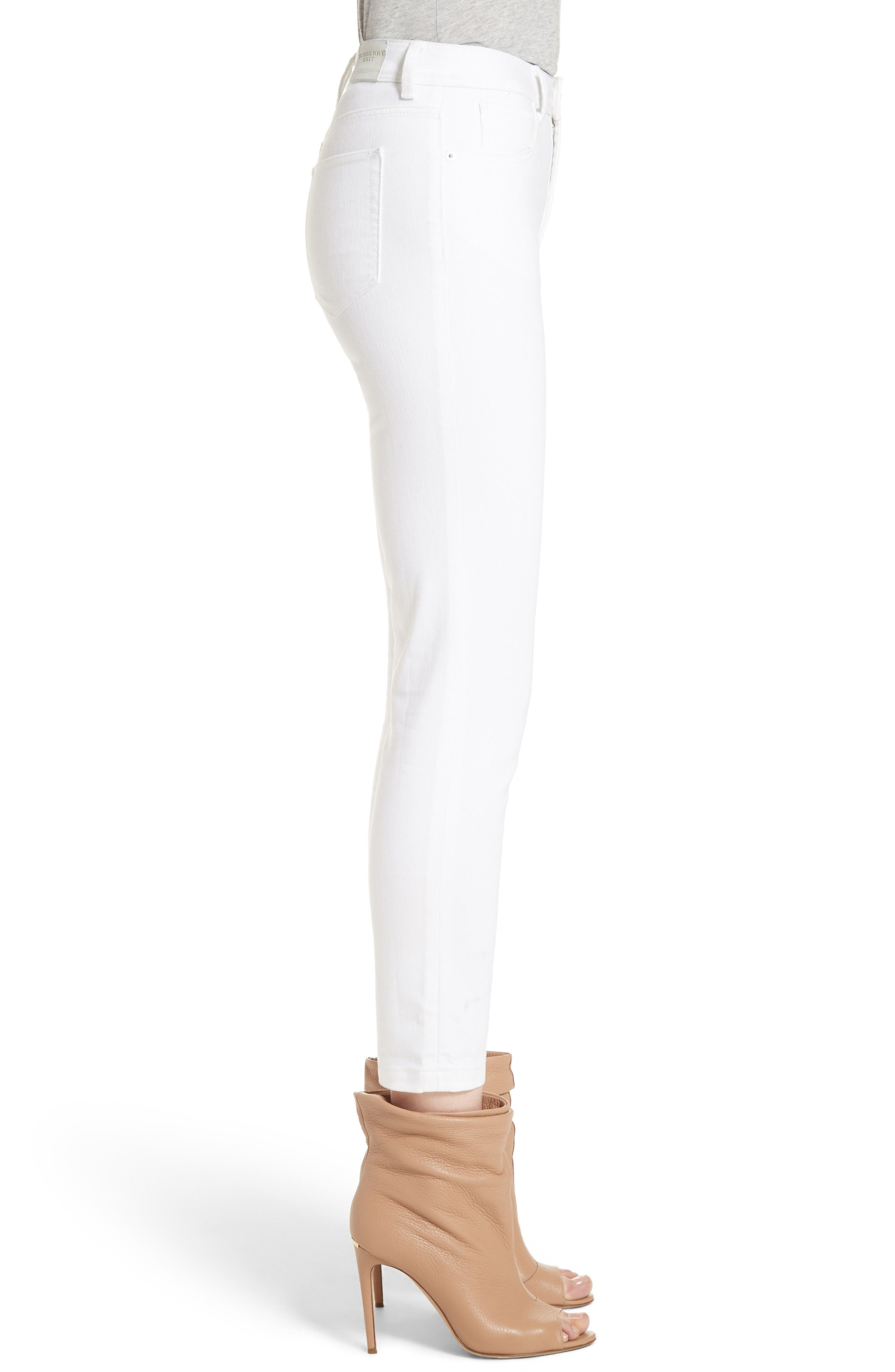 Alternate Image 5  - Burberry Stretch Crop Skinny Jeans