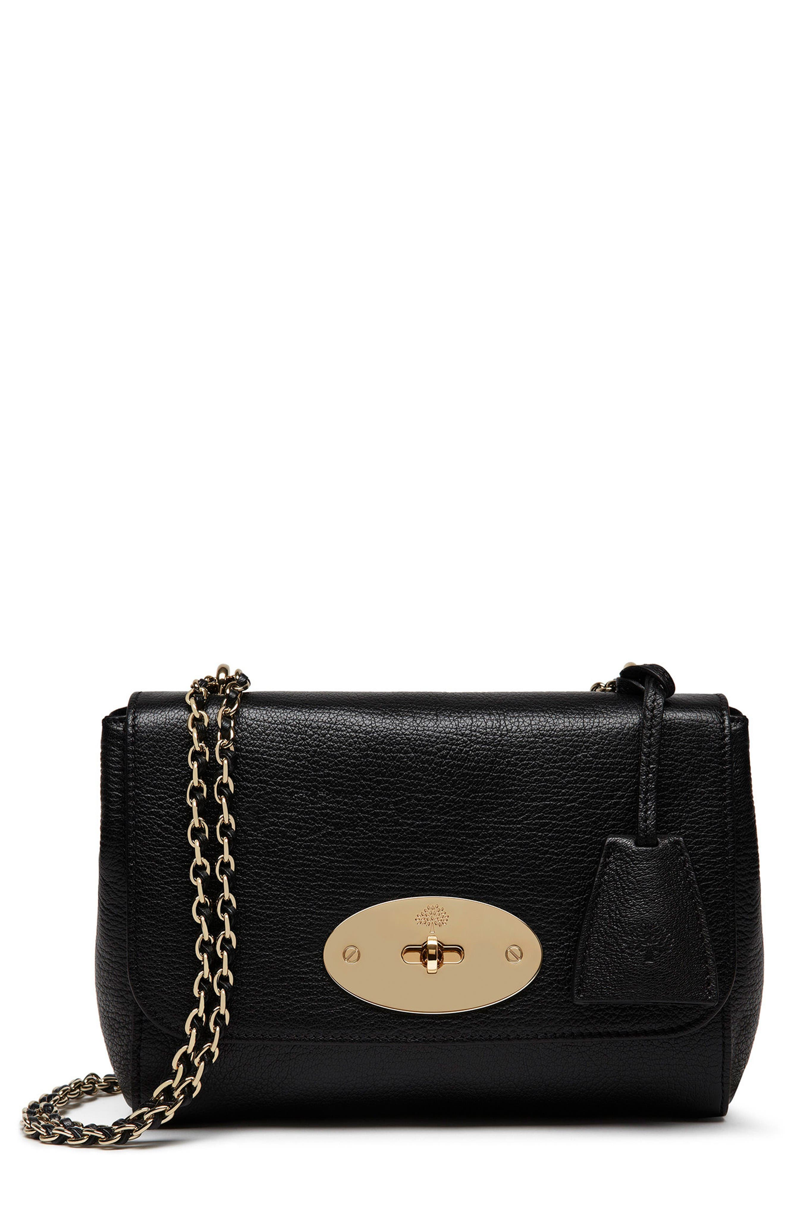 Alternate Image 1 Selected - Mulberry Lily Glossy Leather Crossbody Clutch