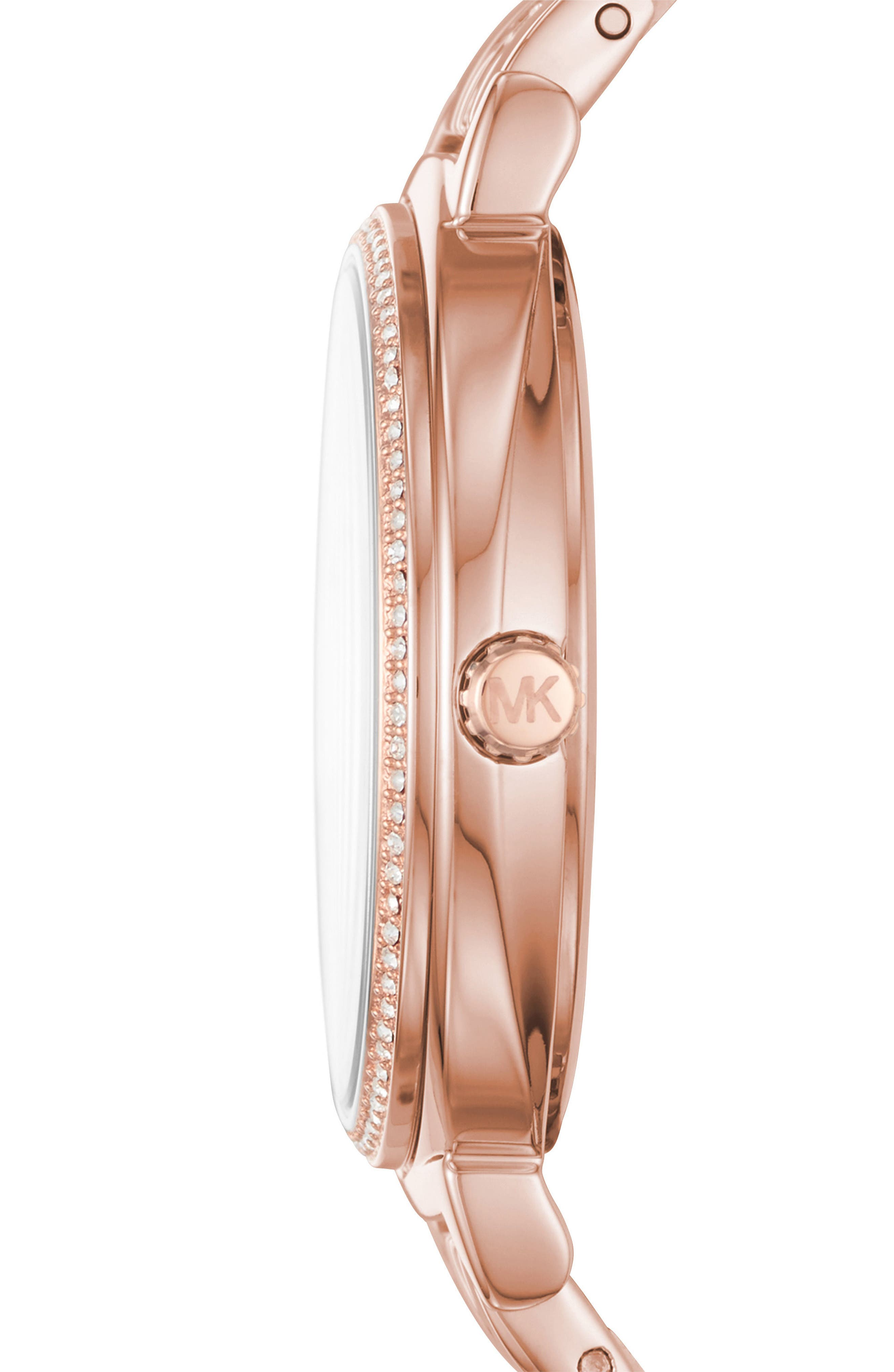 Cinthia Bracelet Watch, 33mm,                             Alternate thumbnail 2, color,                             Rose Gold/ Silver