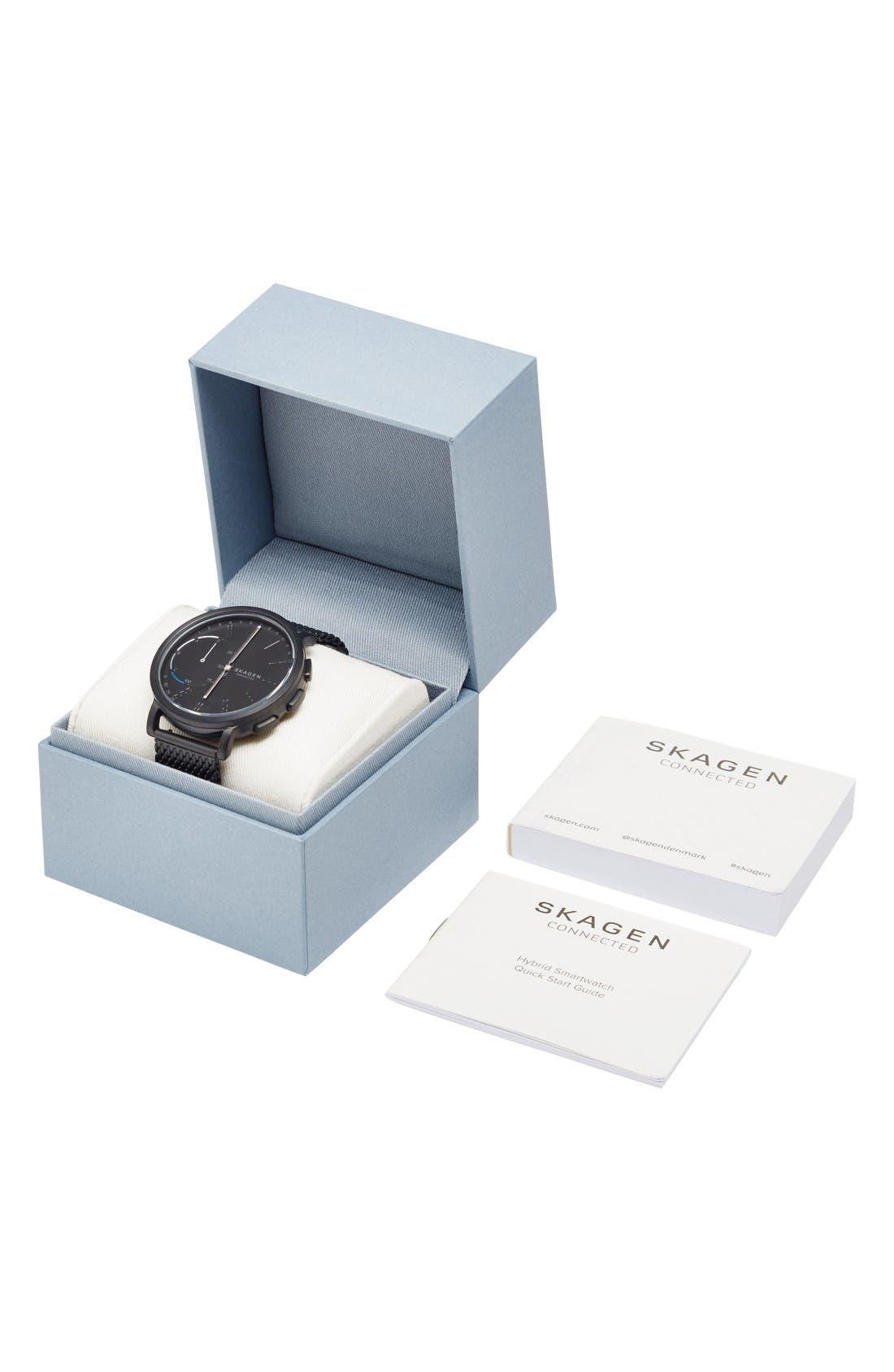 Alternate Image 5  - Skagen Hagen Connected Mesh Strap Hybrid Smart Watch, 42mm