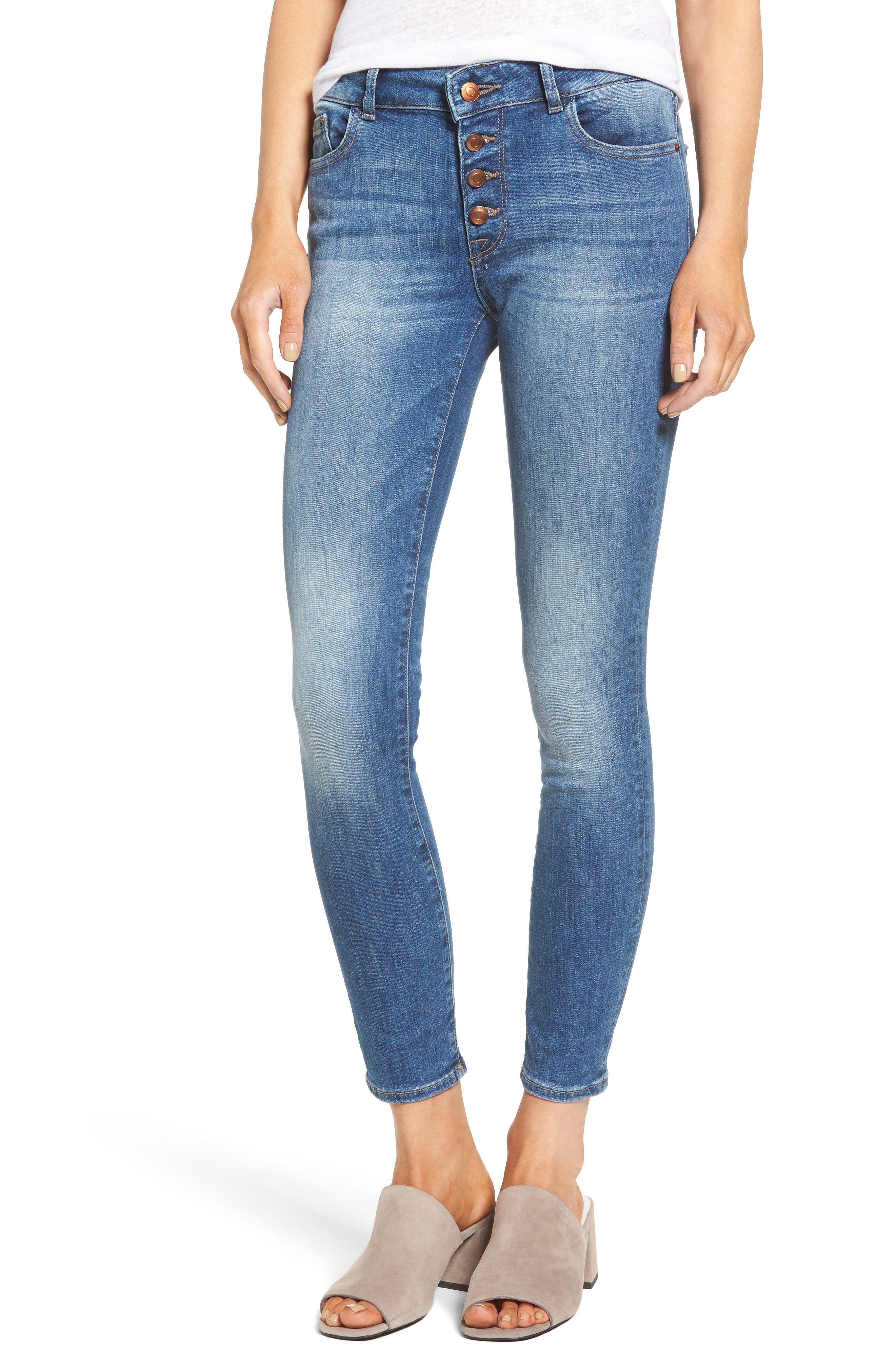 DL1961 Margaux Instasculpt Ankle Skinny Jeans (Steam)