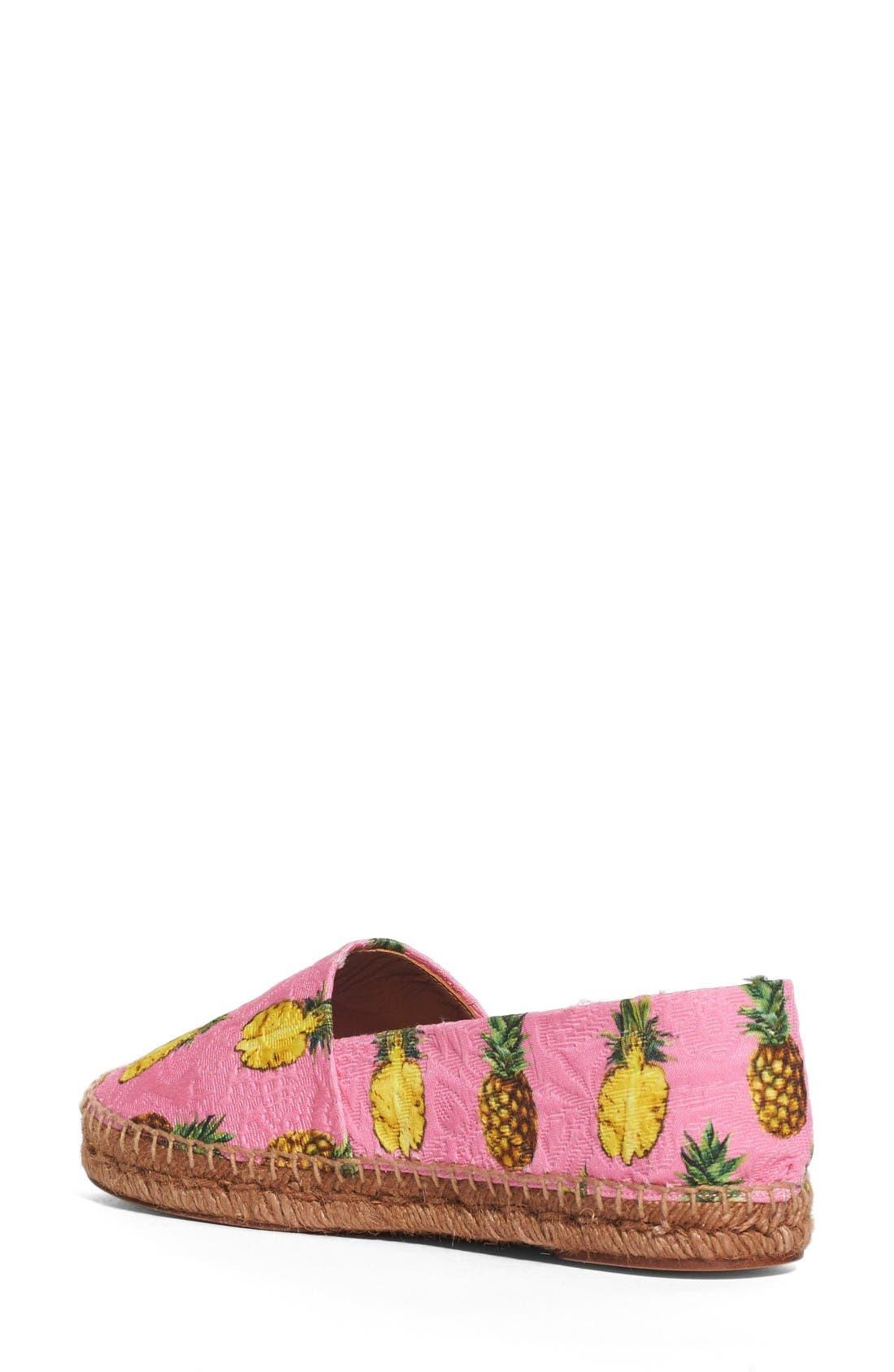 Alternate Image 2  - Dolce&Gabbana Pineapple Print Espadrille Flat (Women)
