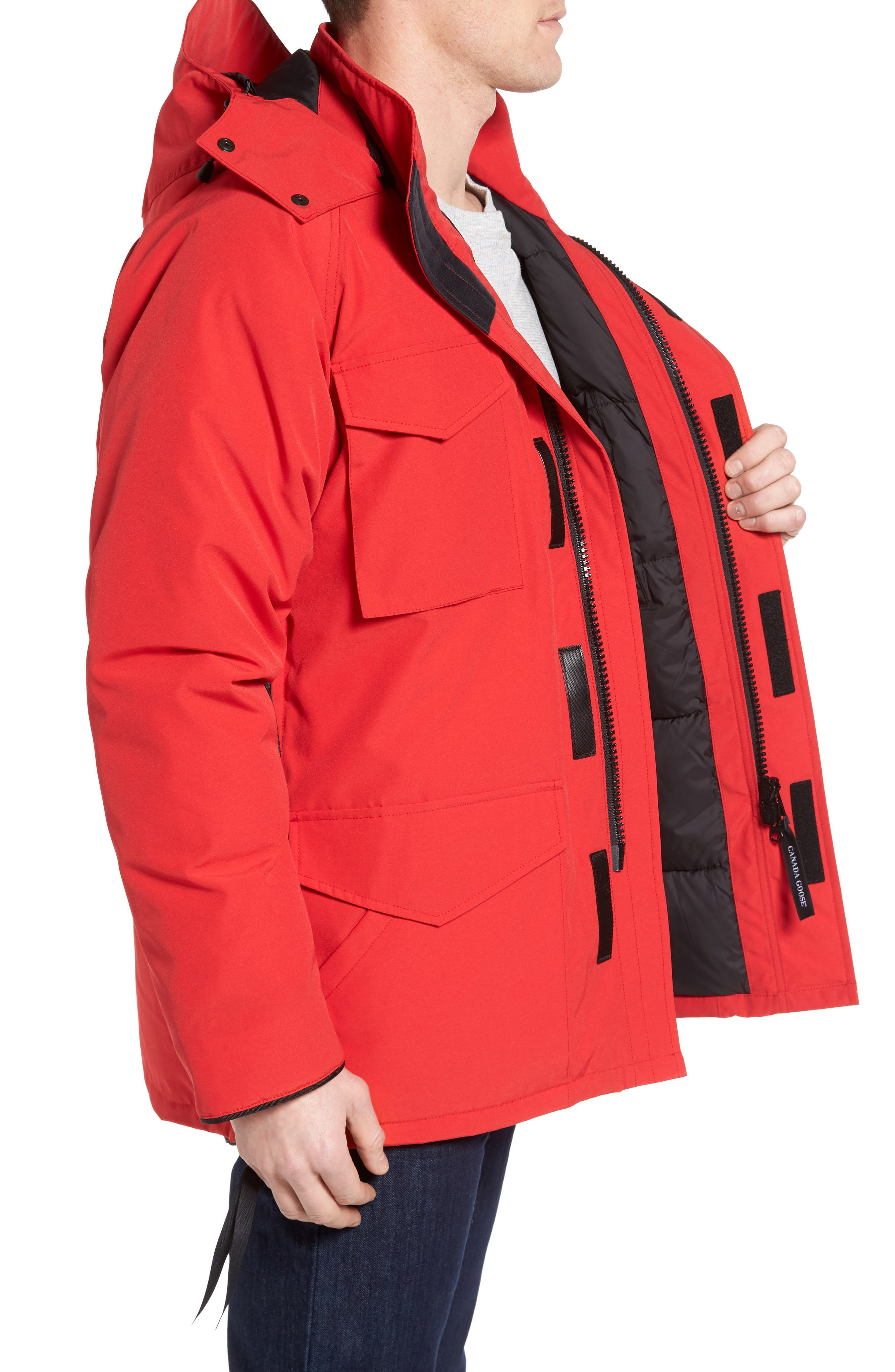 'Constable' Regular Fit Water Resistant Down Parka,                             Alternate thumbnail 3, color,                             Red