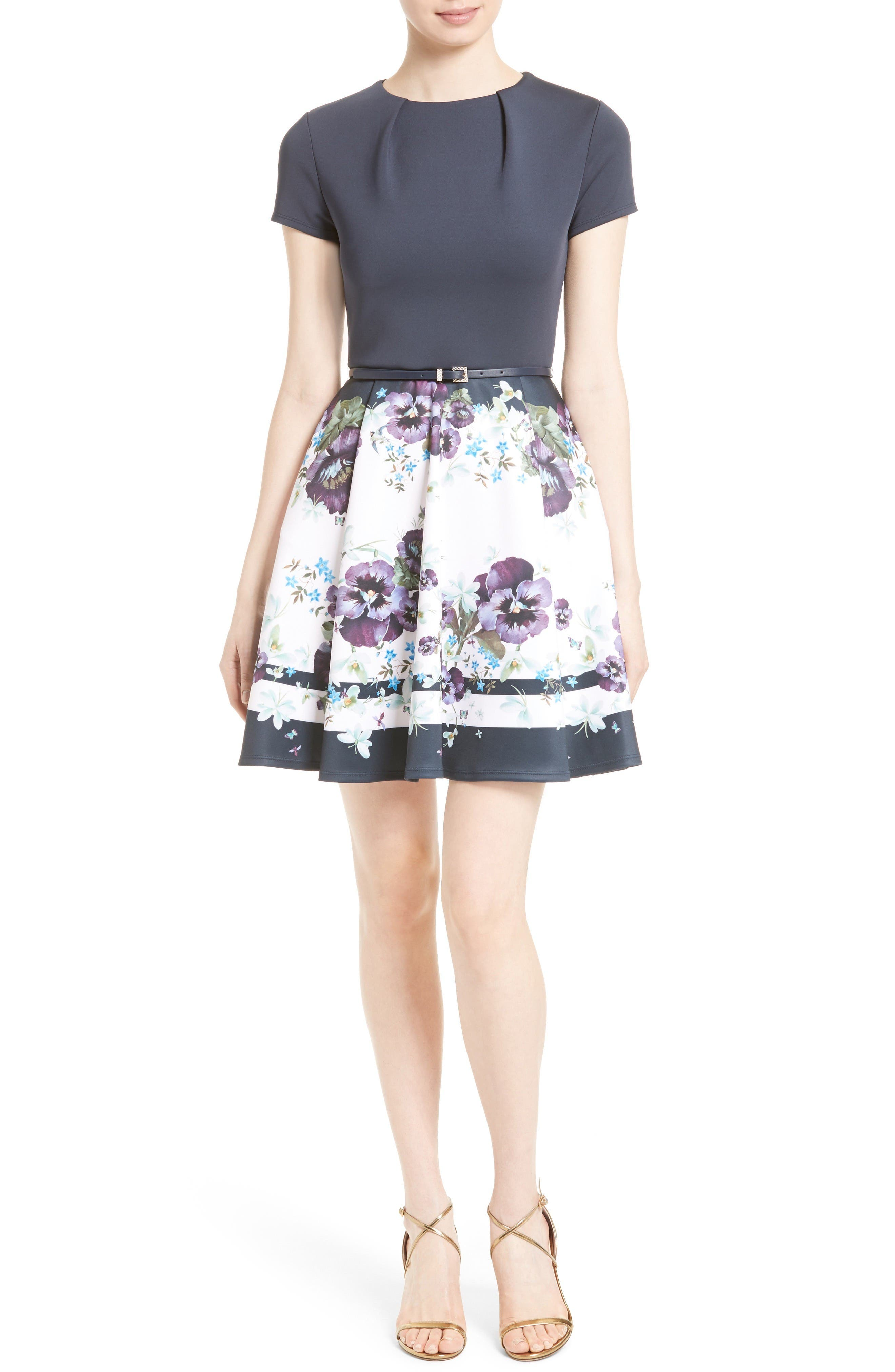Alternate Image 1 Selected - Ted Baker London Stefh Fit & Flare Dress