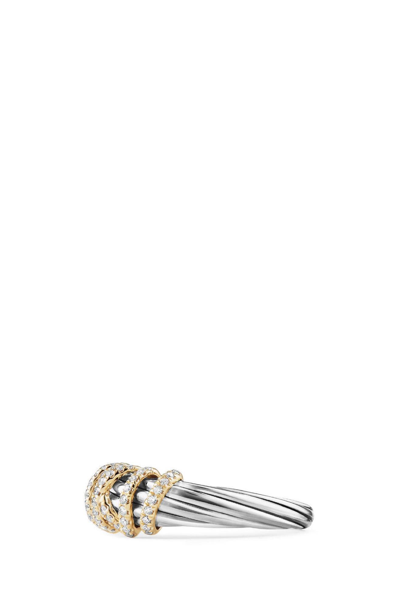 Alternate Image 3  - David Yurman Ring with Diamond and 18K Gold, 8mm